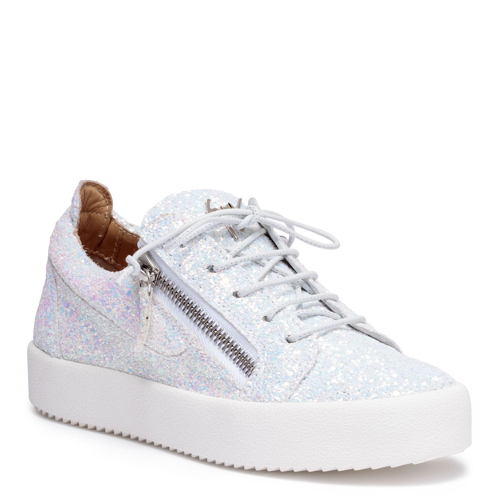 Clearance The Cheapest Buy Cheap In China Kriss Glitter white glitter sneakers Giuseppe Zanotti How Much Sale Online 2BMKVr