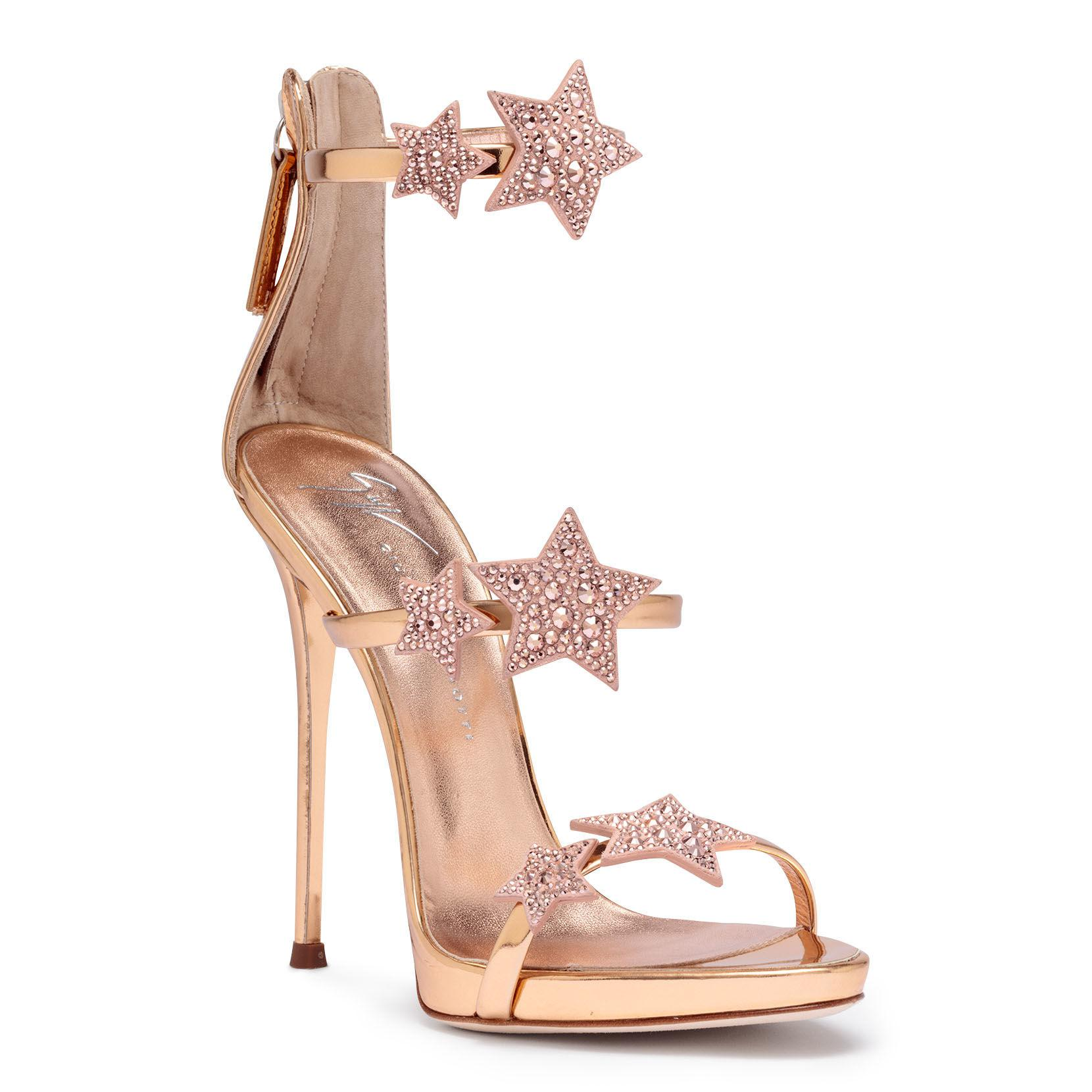 ba091f72ca5f4 Giuseppe Zanotti Harmony Star 120 Rose Gold Leather Sandals in Pink ...