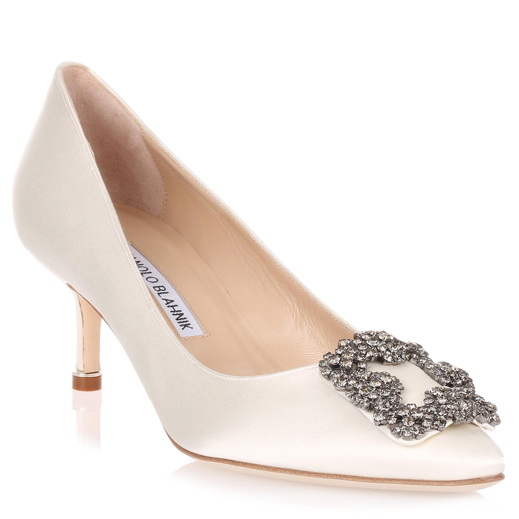 d51e71bff9f3 Manolo Blahnik Hangisi 50 Satin Pump Ivory Us in White - Save ...