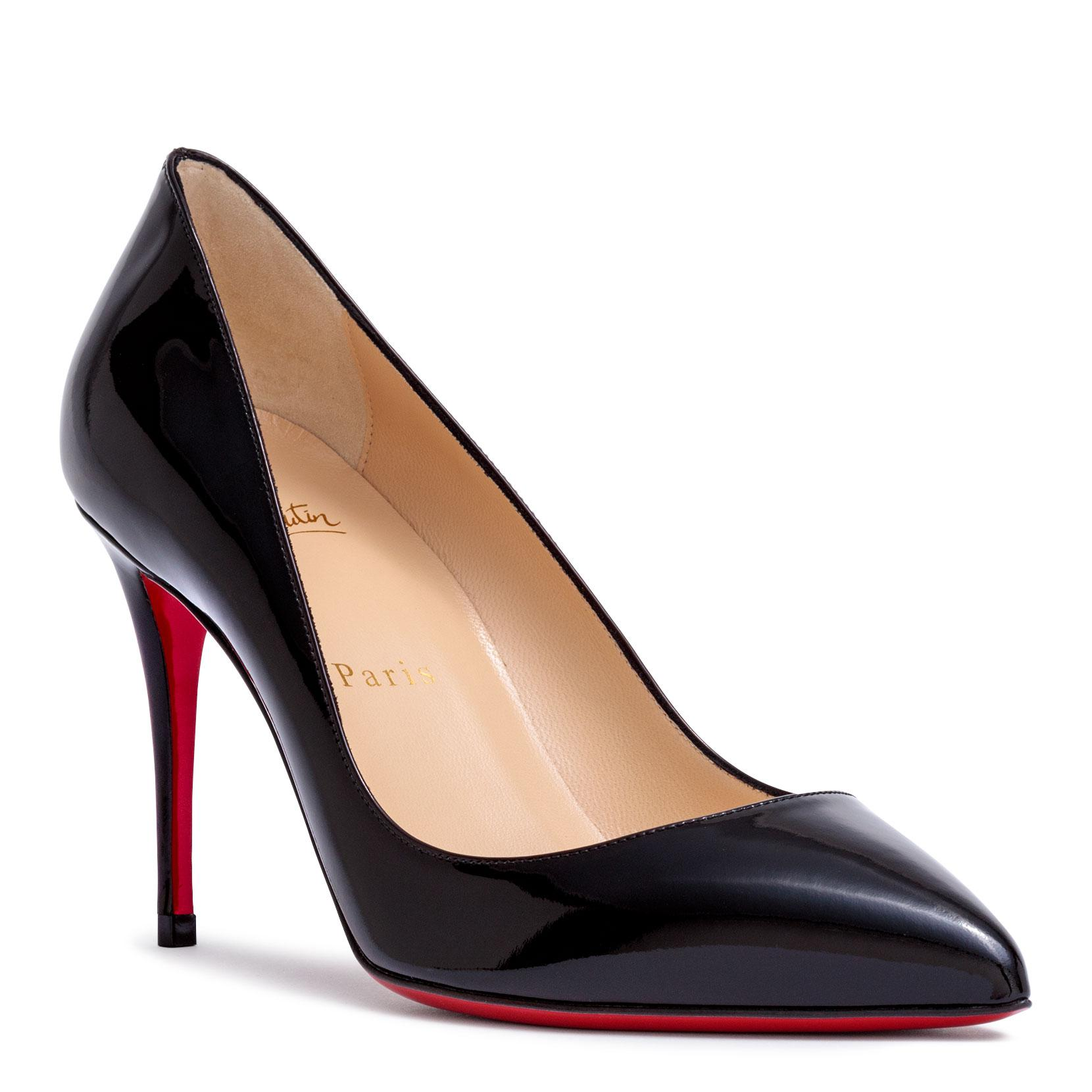 6b8e785953 Christian Louboutin Pigalle Follies 85 Black Patent Leather Pumps in ...