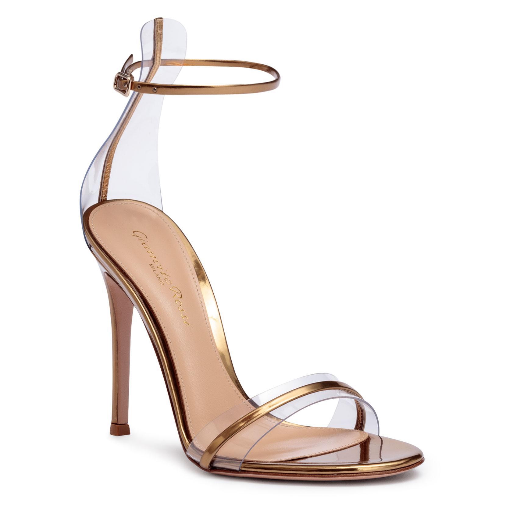 Portofino 105 pvc-trimmed bronze sandals Gianvito Rossi e5RlALOFs