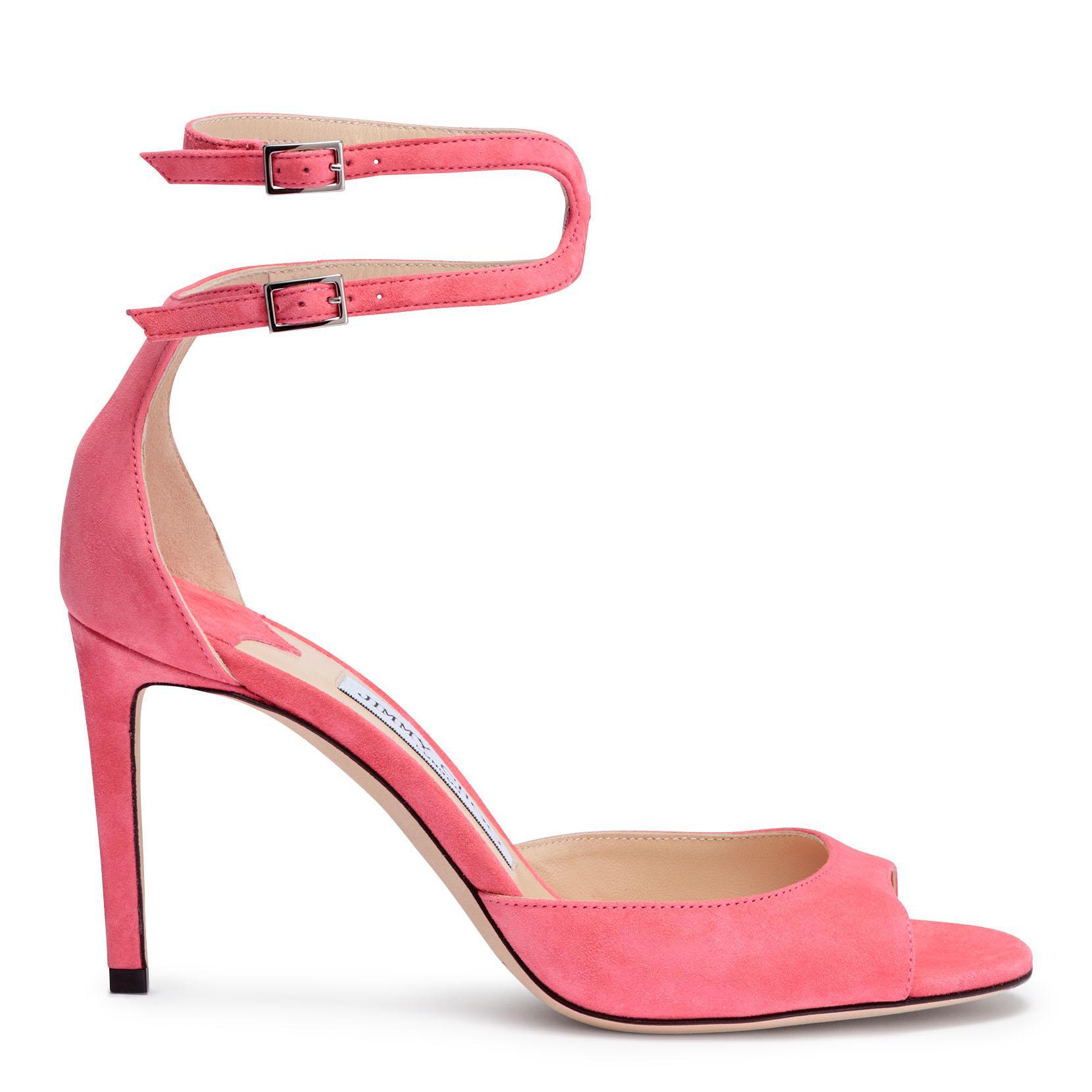 Lane 85 pink suede sandals Jimmy Choo London A6jJiomv