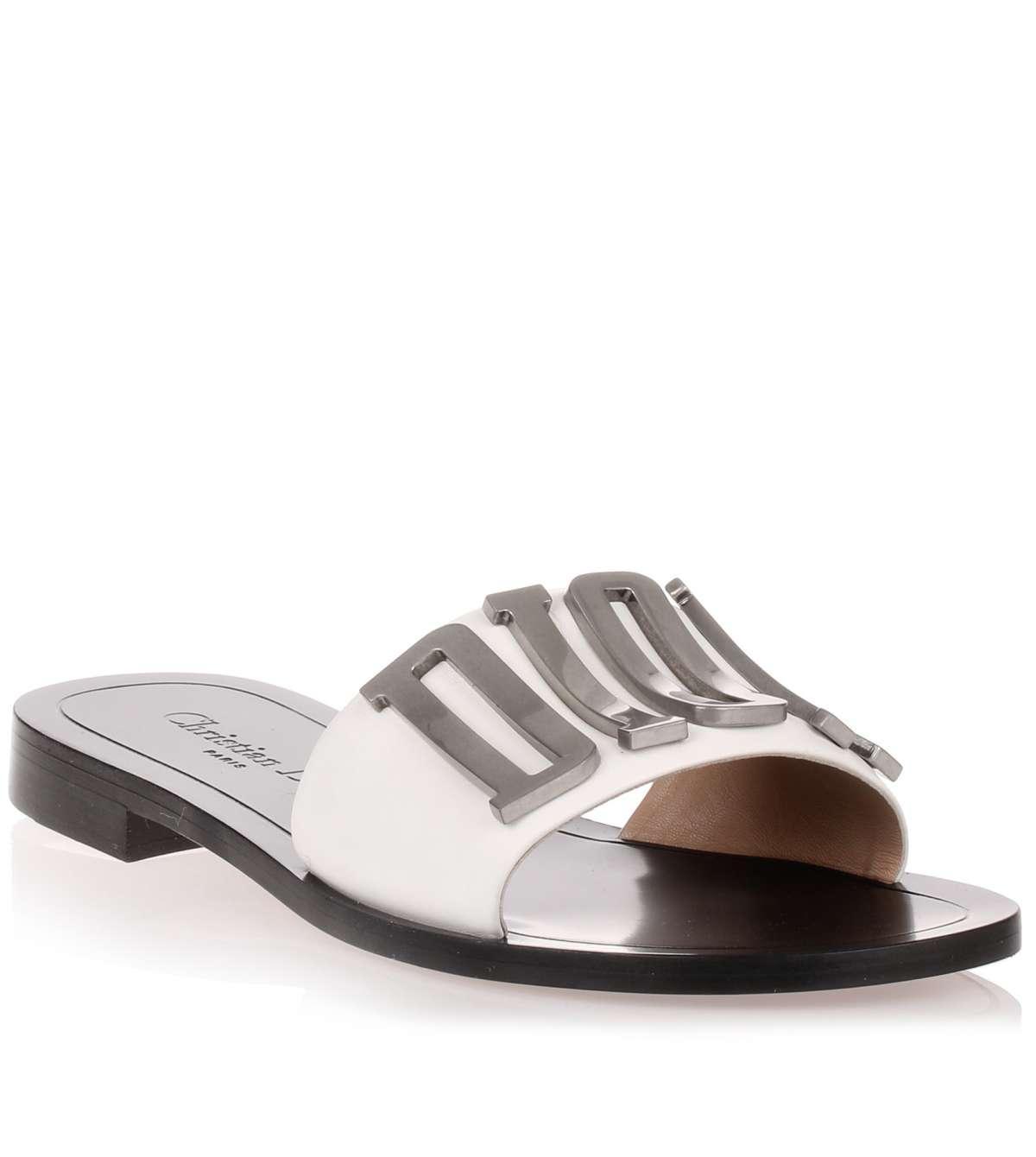 1fff9237d70 Lyst - Dior Evolution White Leather Slide Us in White