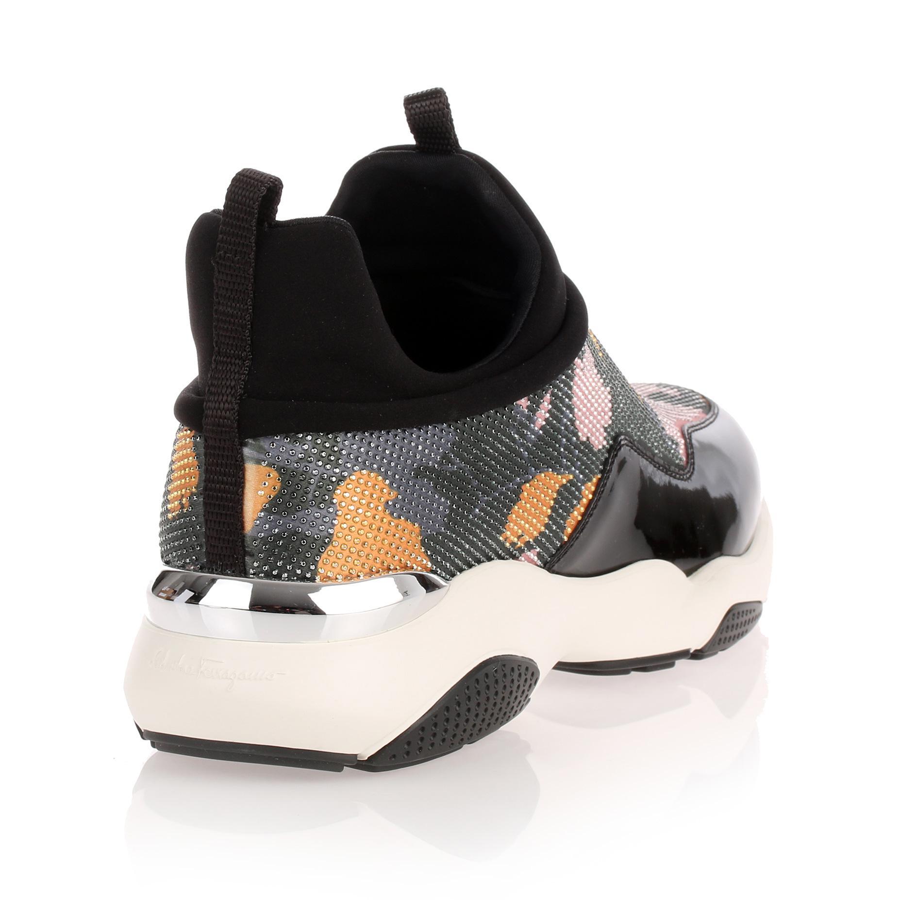 Giolly patent haiti black sneaker Salvatore Ferragamo Qoor4bk