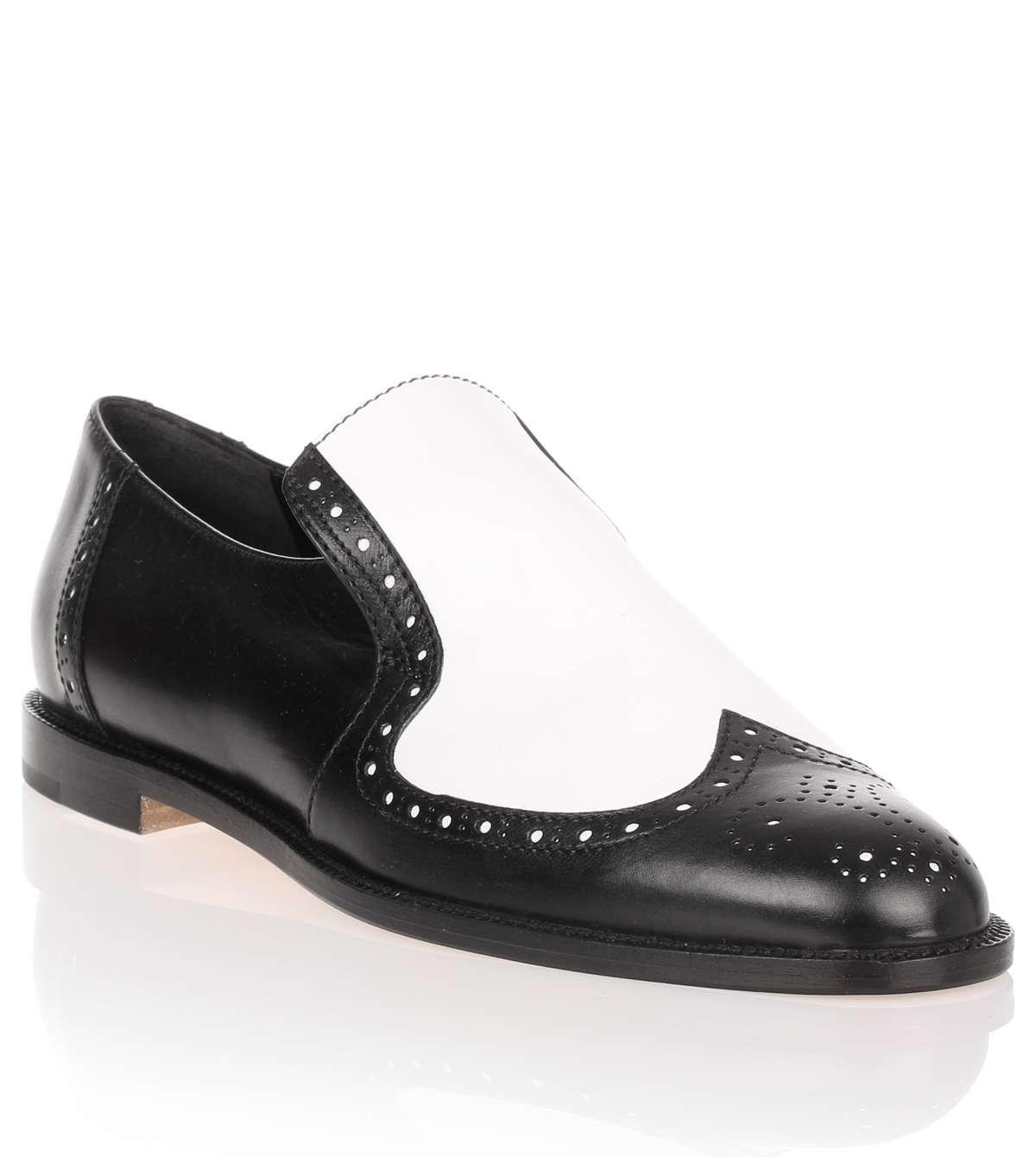 Lyst Manolo Blahnik Jacquette Black And White Leather