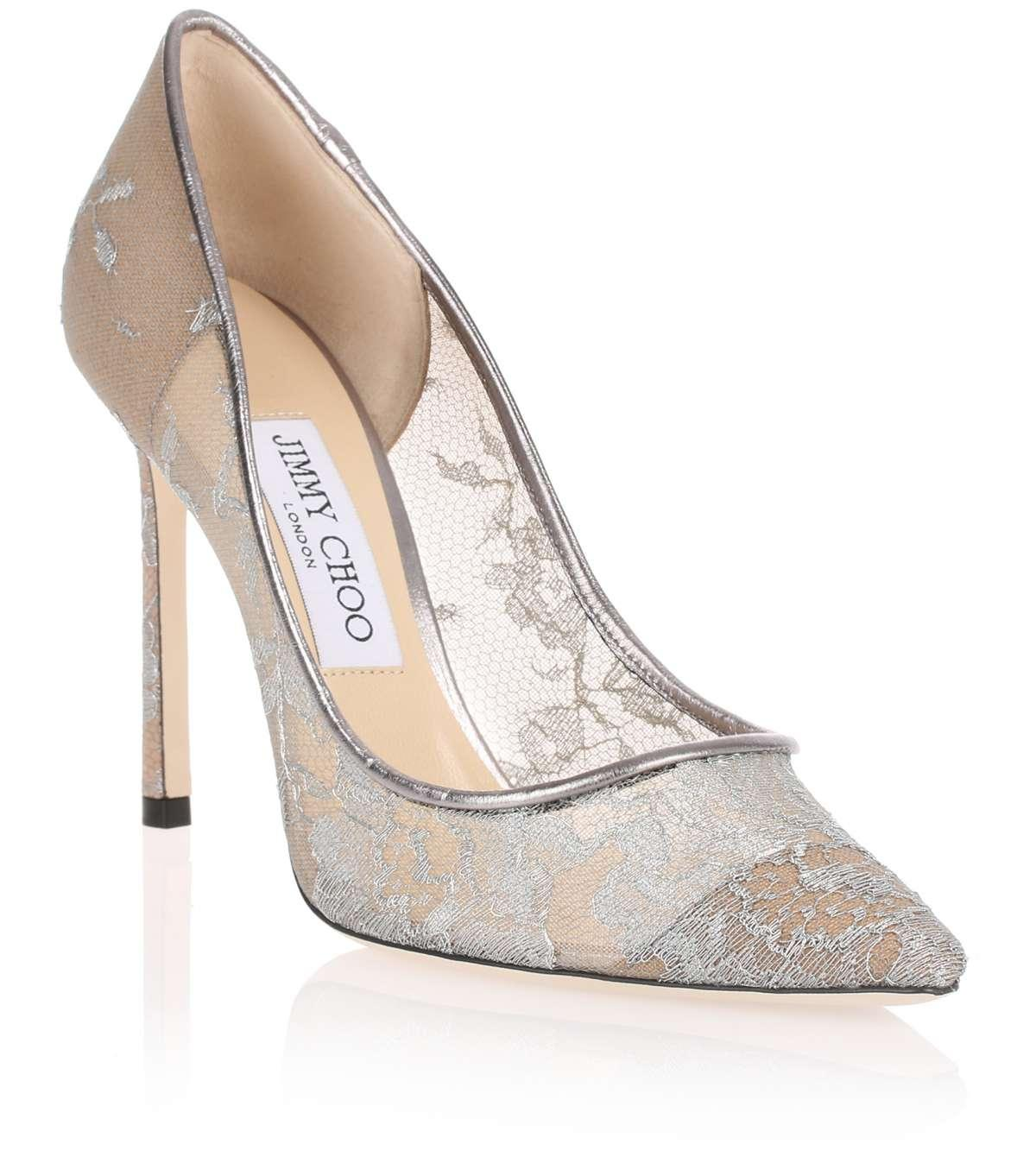 Romy 100 metallic leather pumps Jimmy Choo London 12mtRTYQX