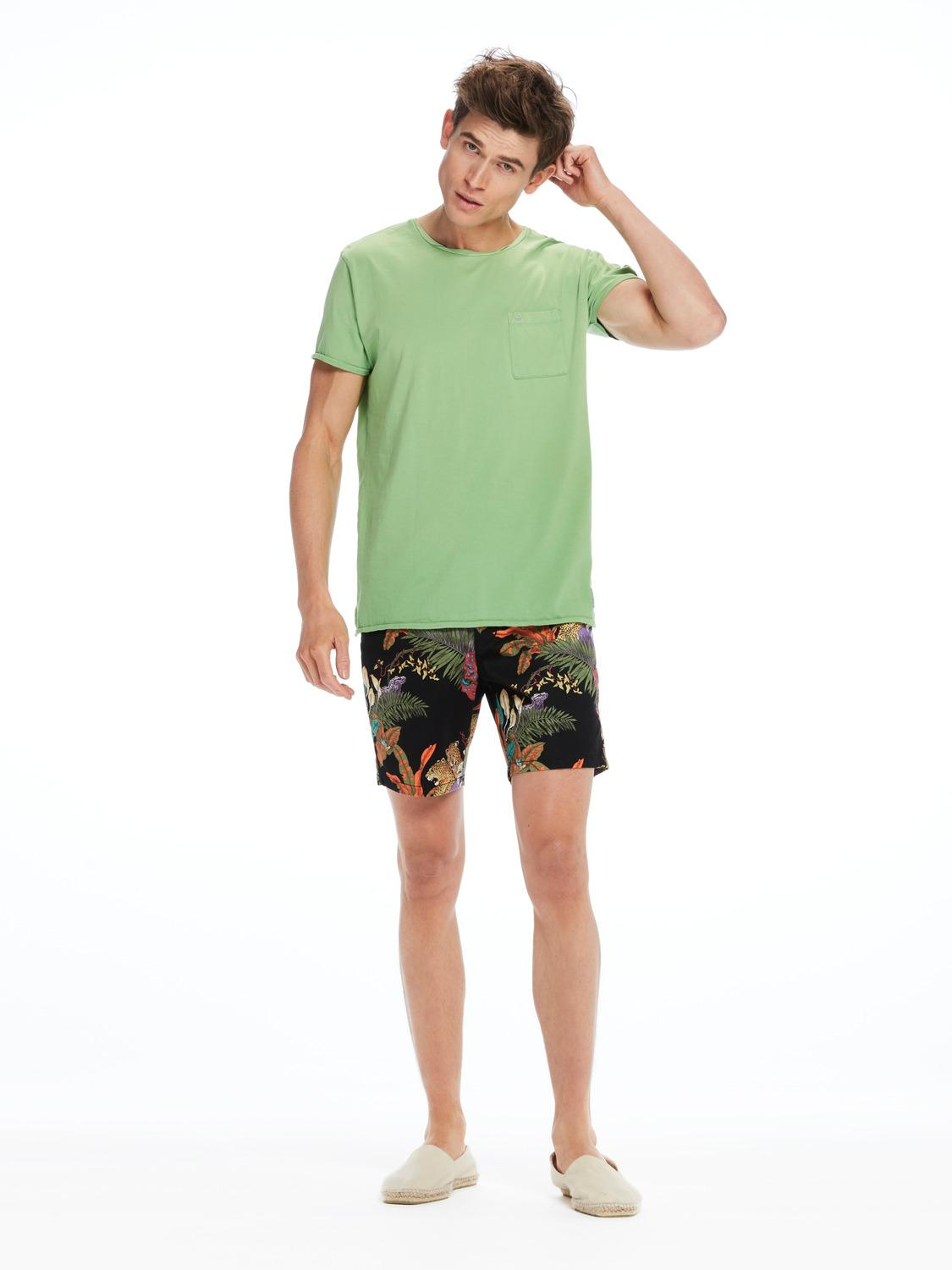 lyst scotch soda garment dyed tee in green for men. Black Bedroom Furniture Sets. Home Design Ideas
