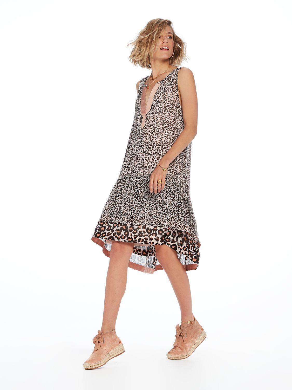 d4954e1e26d0 Scotch & Soda Mixed Animal Print Dress - Lyst