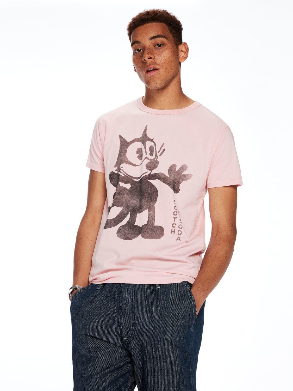 Outlet Shopping Online Discount The Cheapest Sale - Scotch & Soda x Felix Ams Blauw Cat T-Shirt - Scotch & Soda Scotch & Soda 1Uu4i6