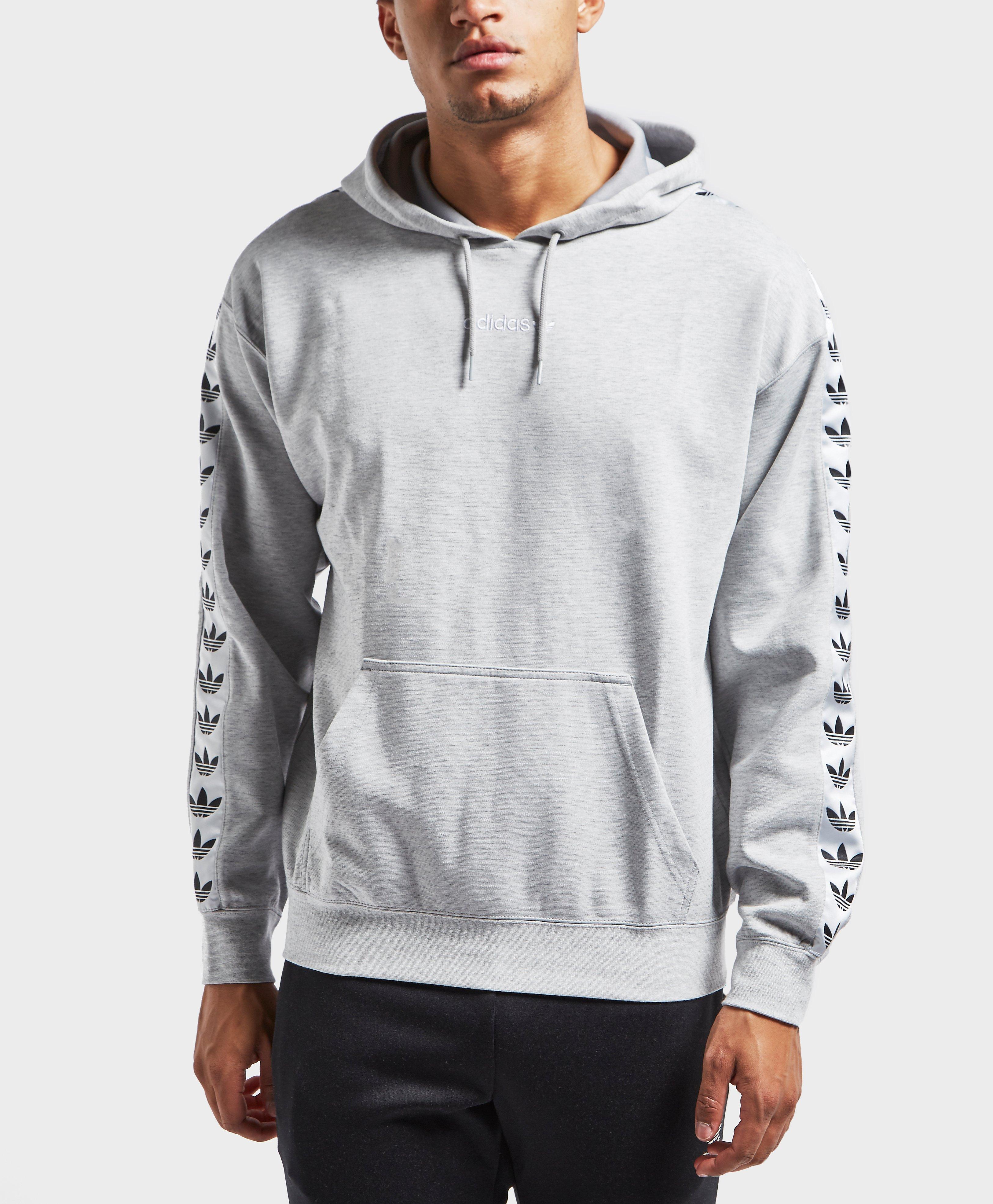 fb9fbeccb872 Lyst - adidas Originals Tape Overhead Hoodie in Gray for Men