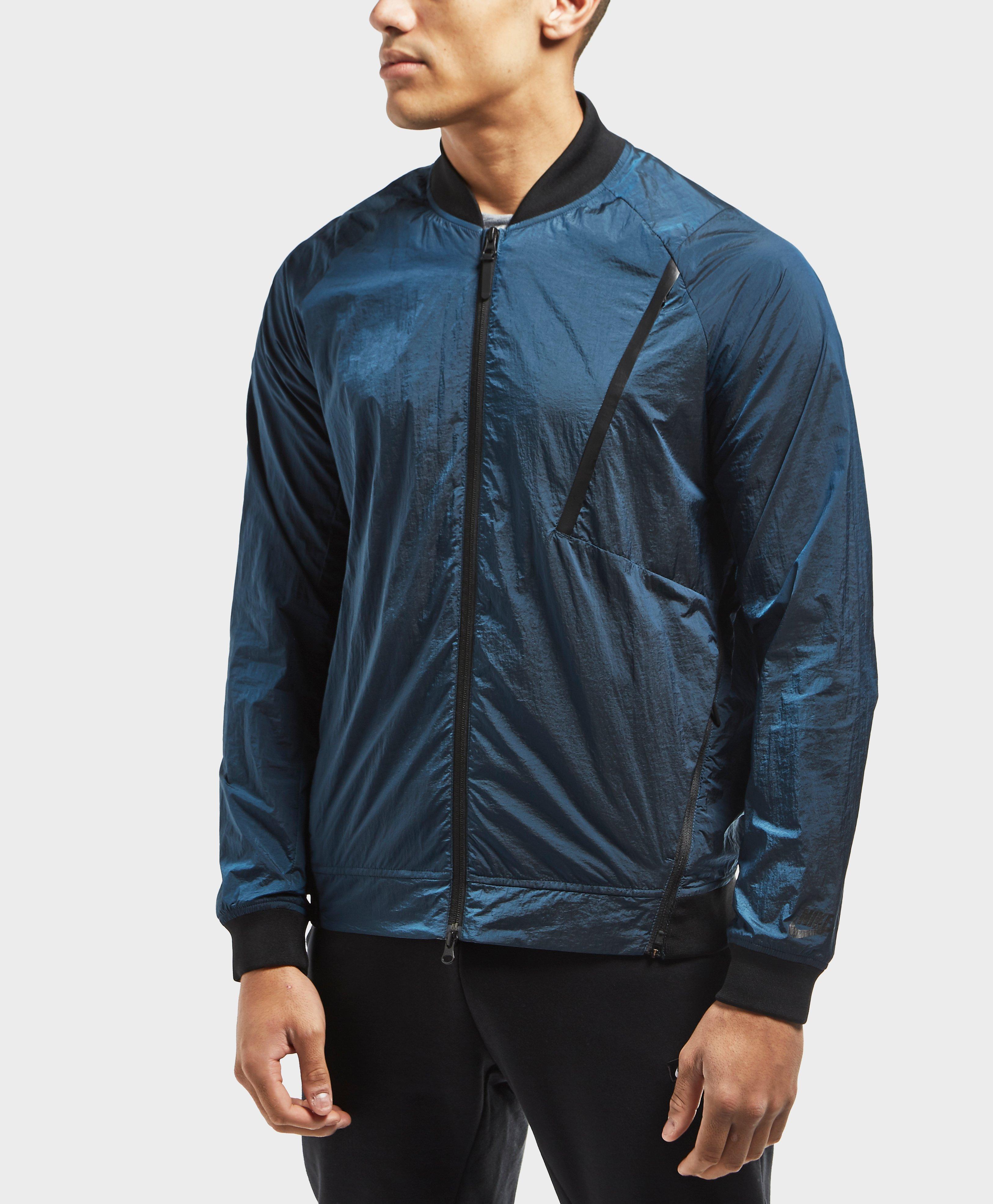 b9b62f695b01 Nike Tech Hypermesh Varsity Jacket in Blue for Men - Lyst