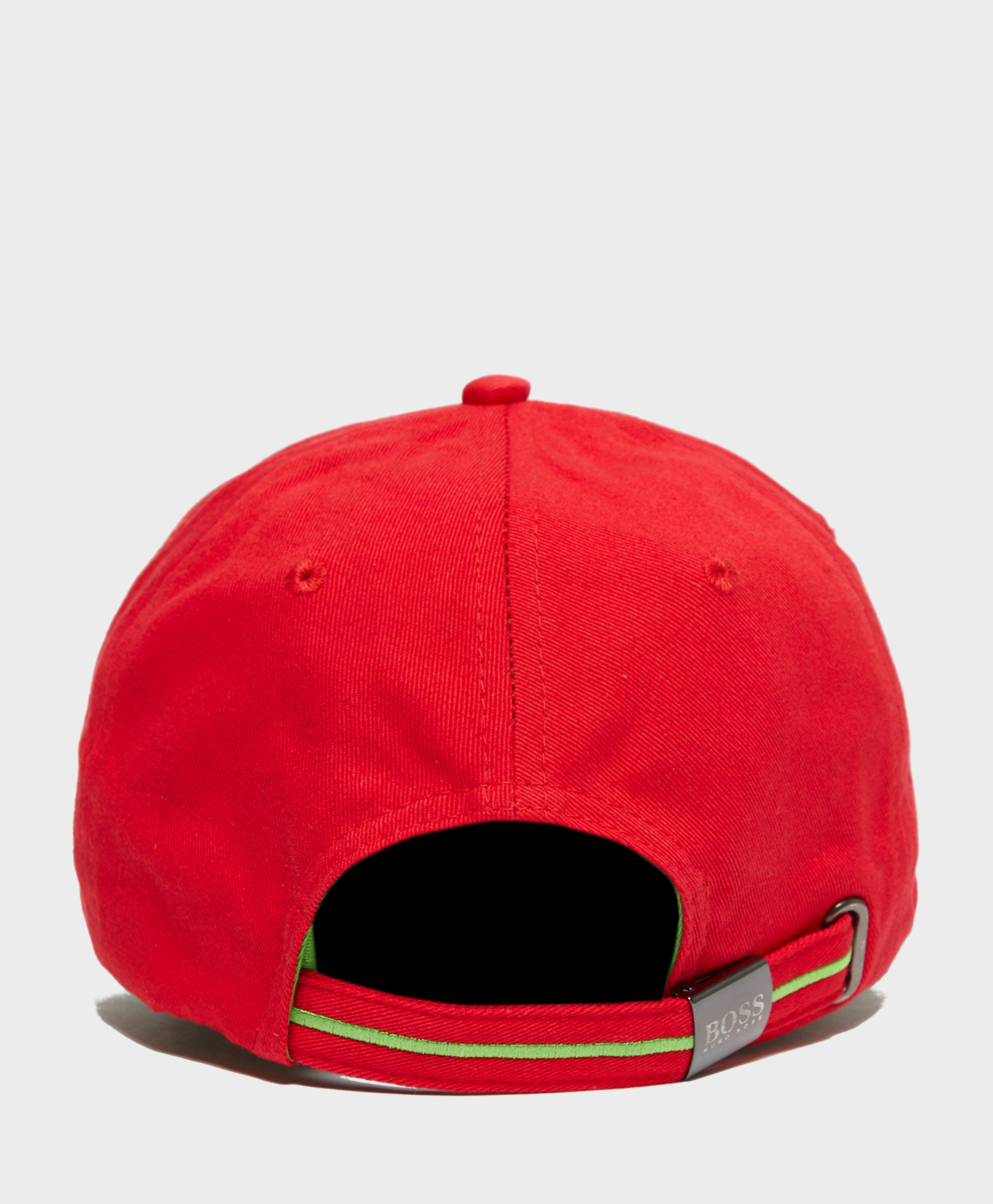 c536c90aab3 BOSS Mini Logo Cap in Red for Men - Lyst