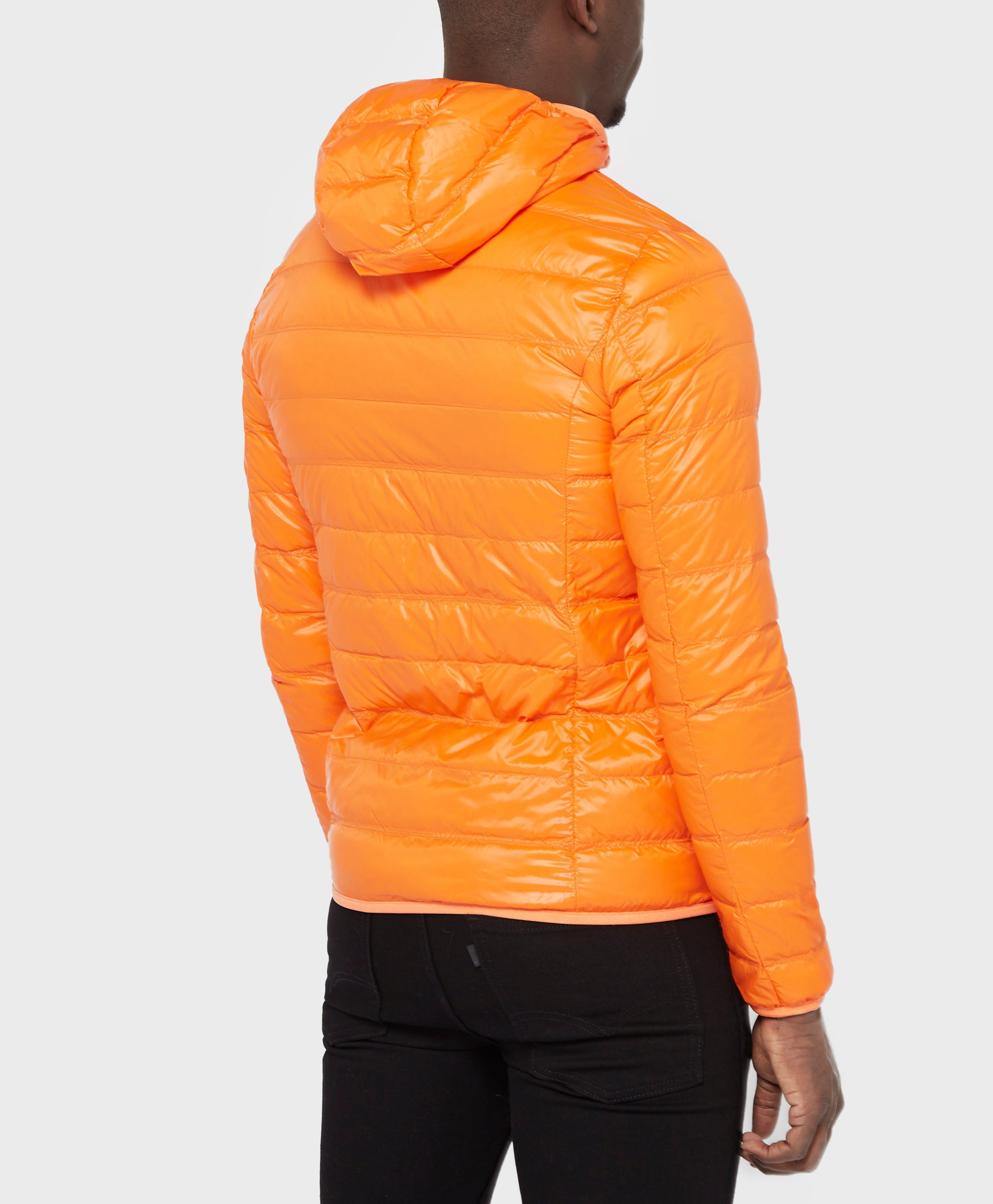 Ea7 Down Bubble Jacket In Orange For Men
