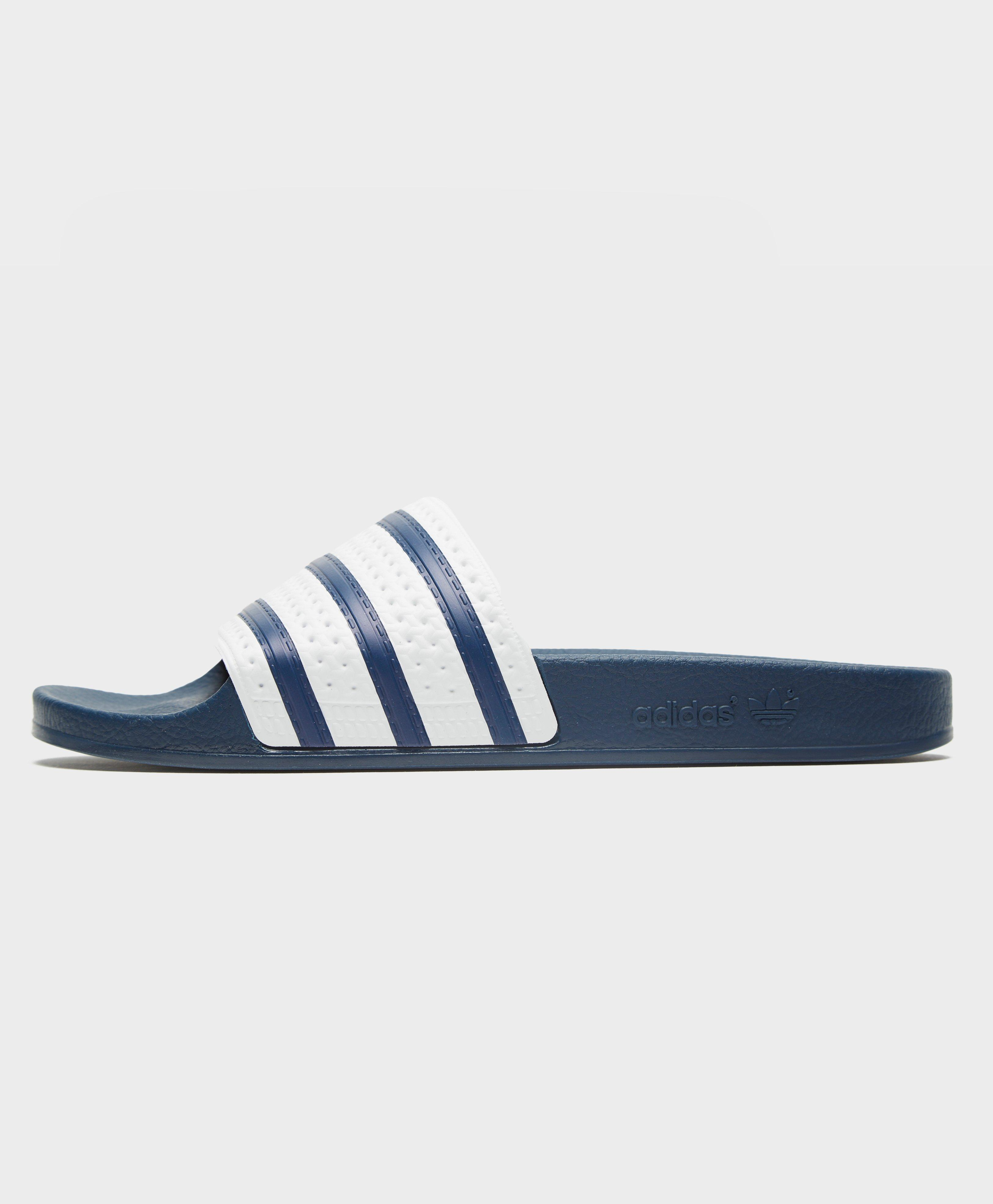 9b211ae2dbd54 Adidas Originals Adilette Slides in Blue for Men - Lyst