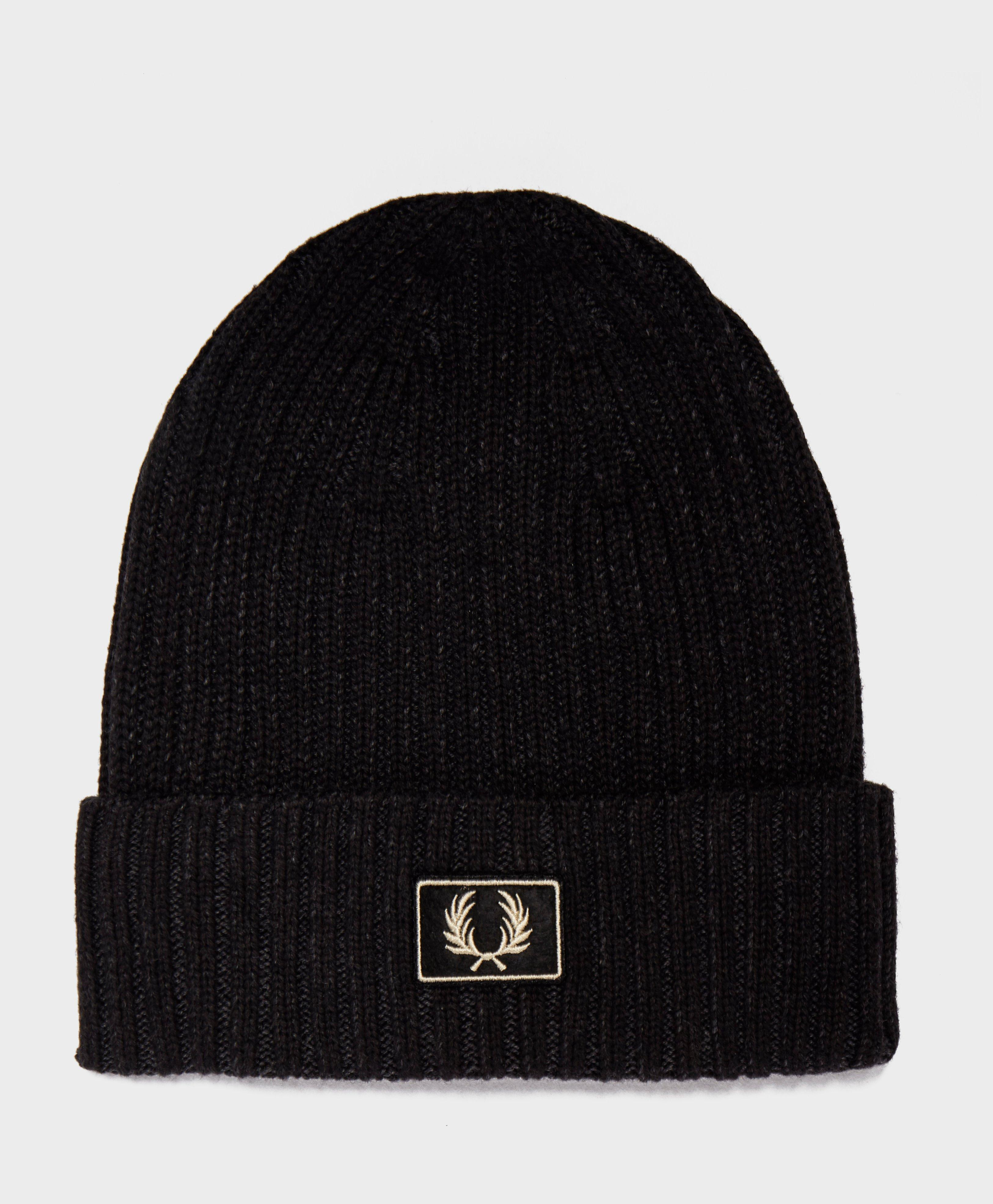 ee6657be965 Fred Perry Two Tone Beanie in Black for Men - Lyst