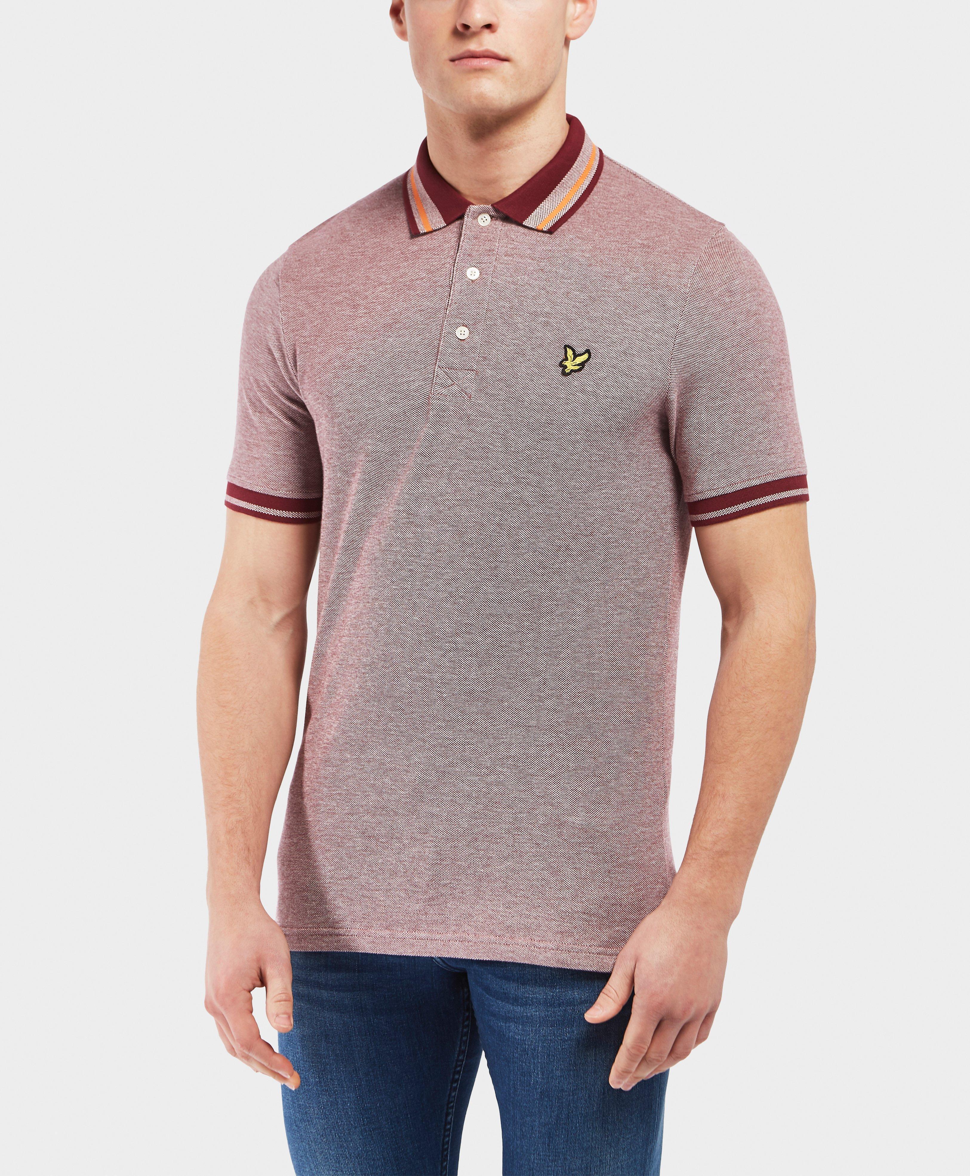 Mens Oxford Stripe Short Sleeve Polo Shirt Lyle & Scott Best Sale Sale Online btI7uvIW