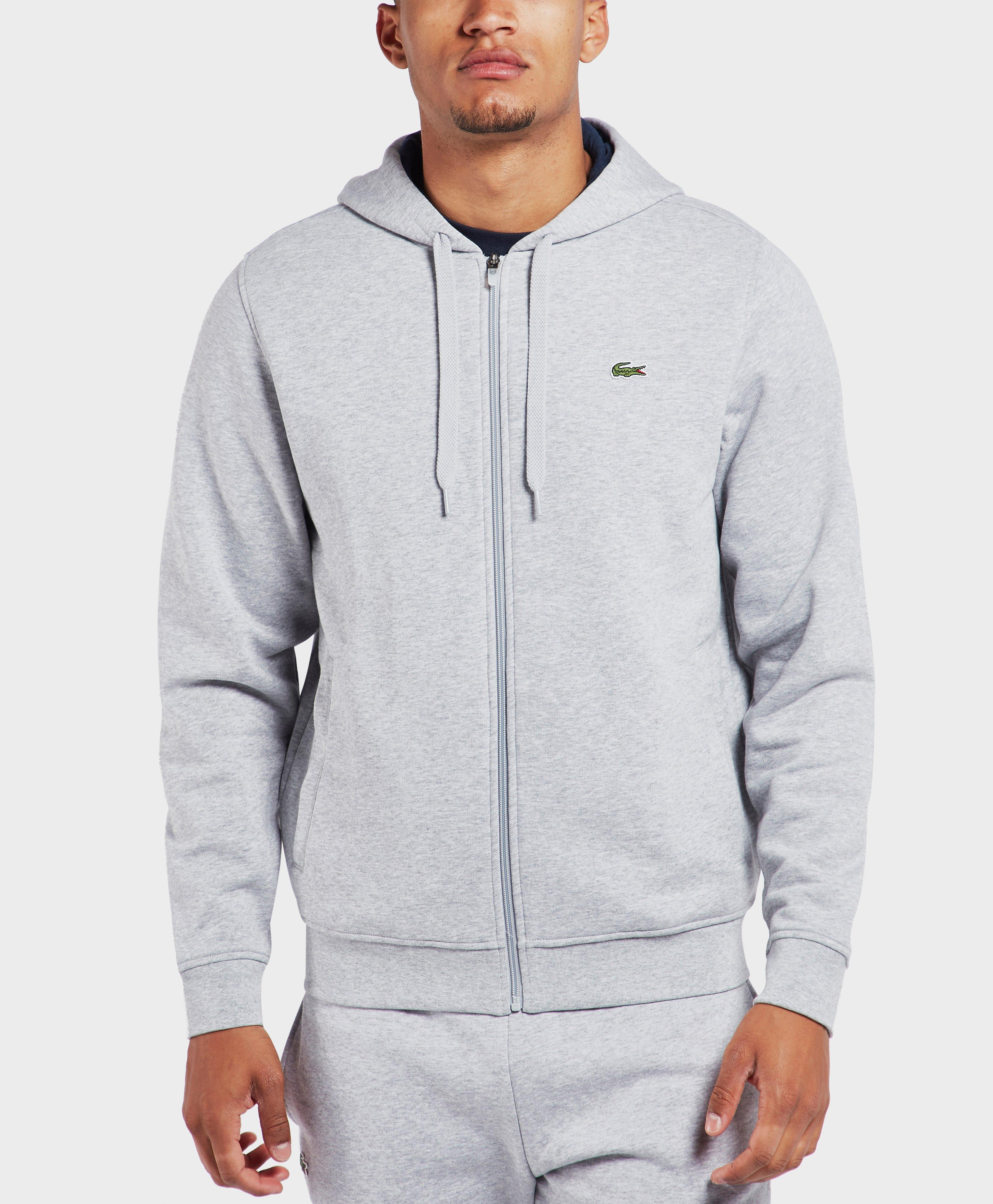 5791f01f51f8 Lyst - Lacoste Hooded Fleece Sweatshirt in Gray for Men