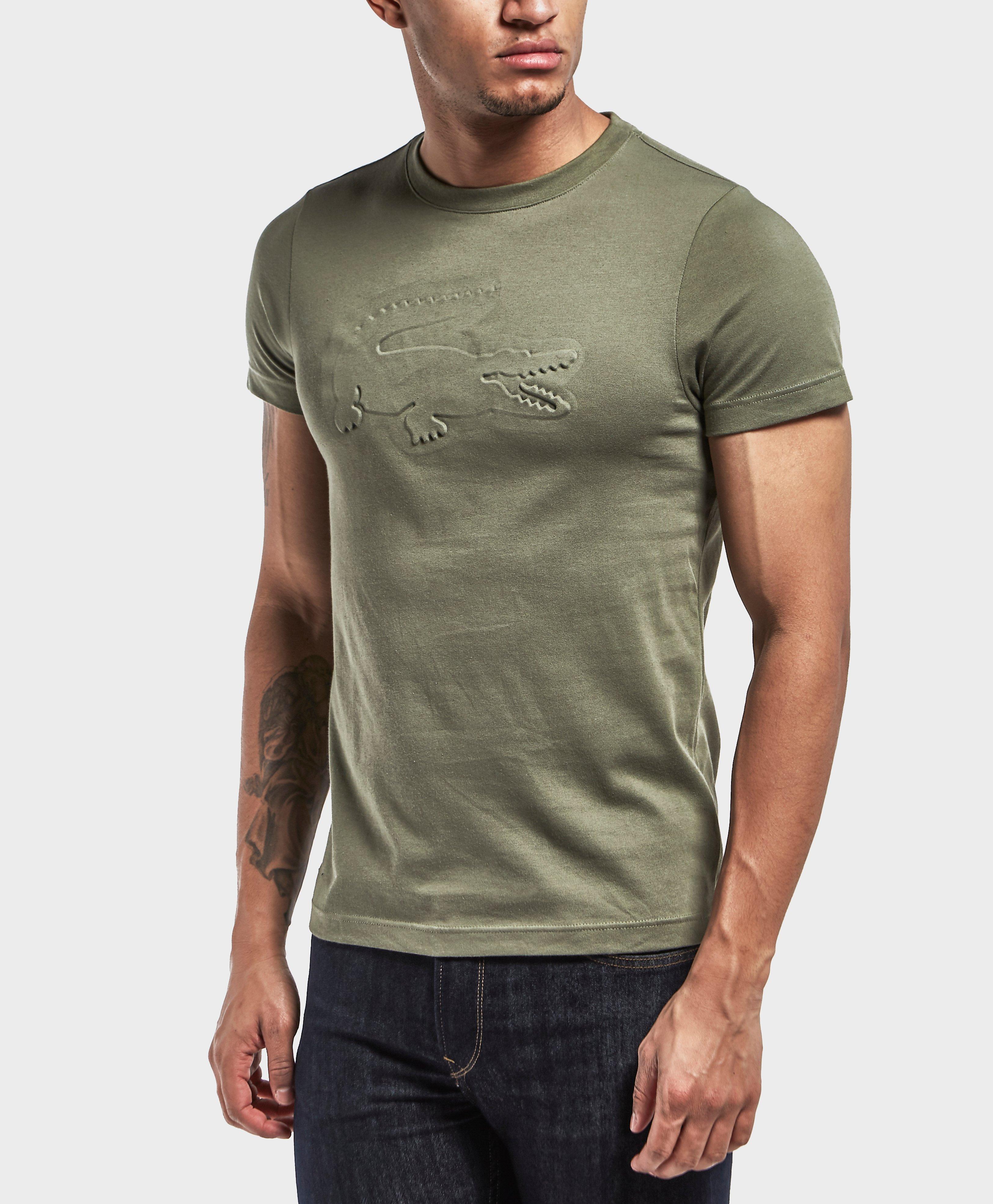lyst lacoste embossed croc short sleeve t shirt in green. Black Bedroom Furniture Sets. Home Design Ideas