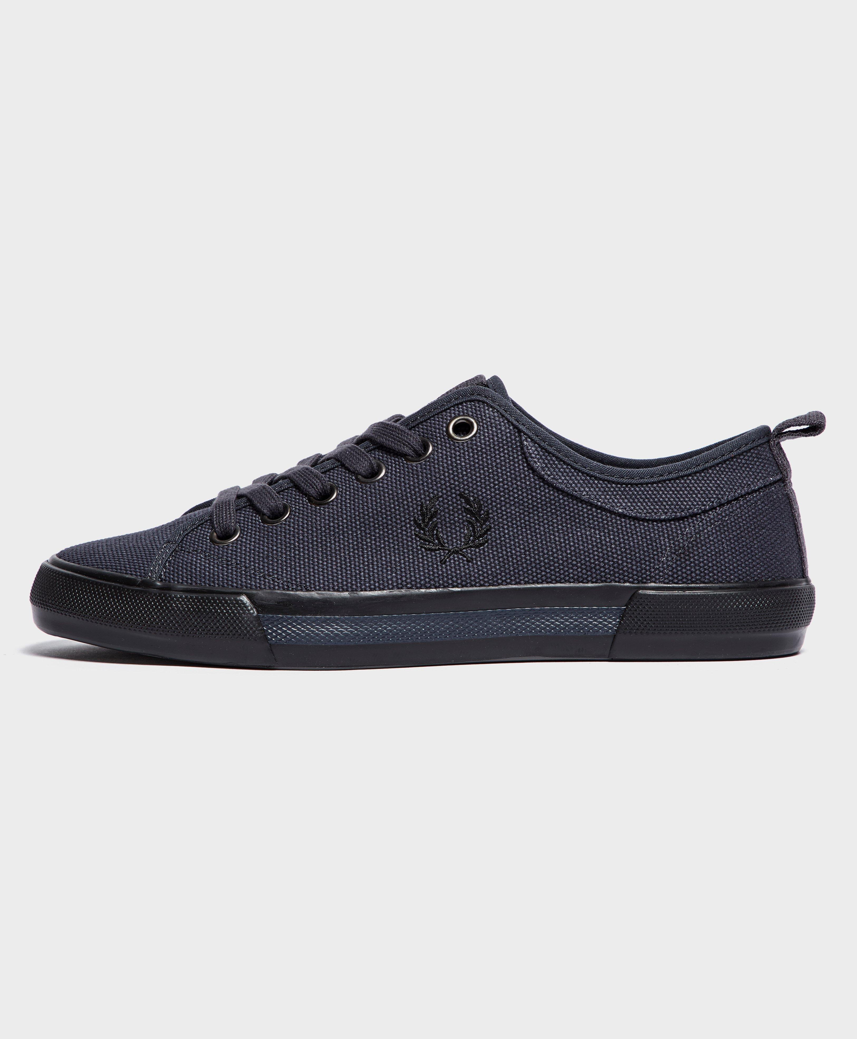 Fred Perry Horton Canvas Trainers in Black enjoy for sale with mastercard cheap online J1i9YMN