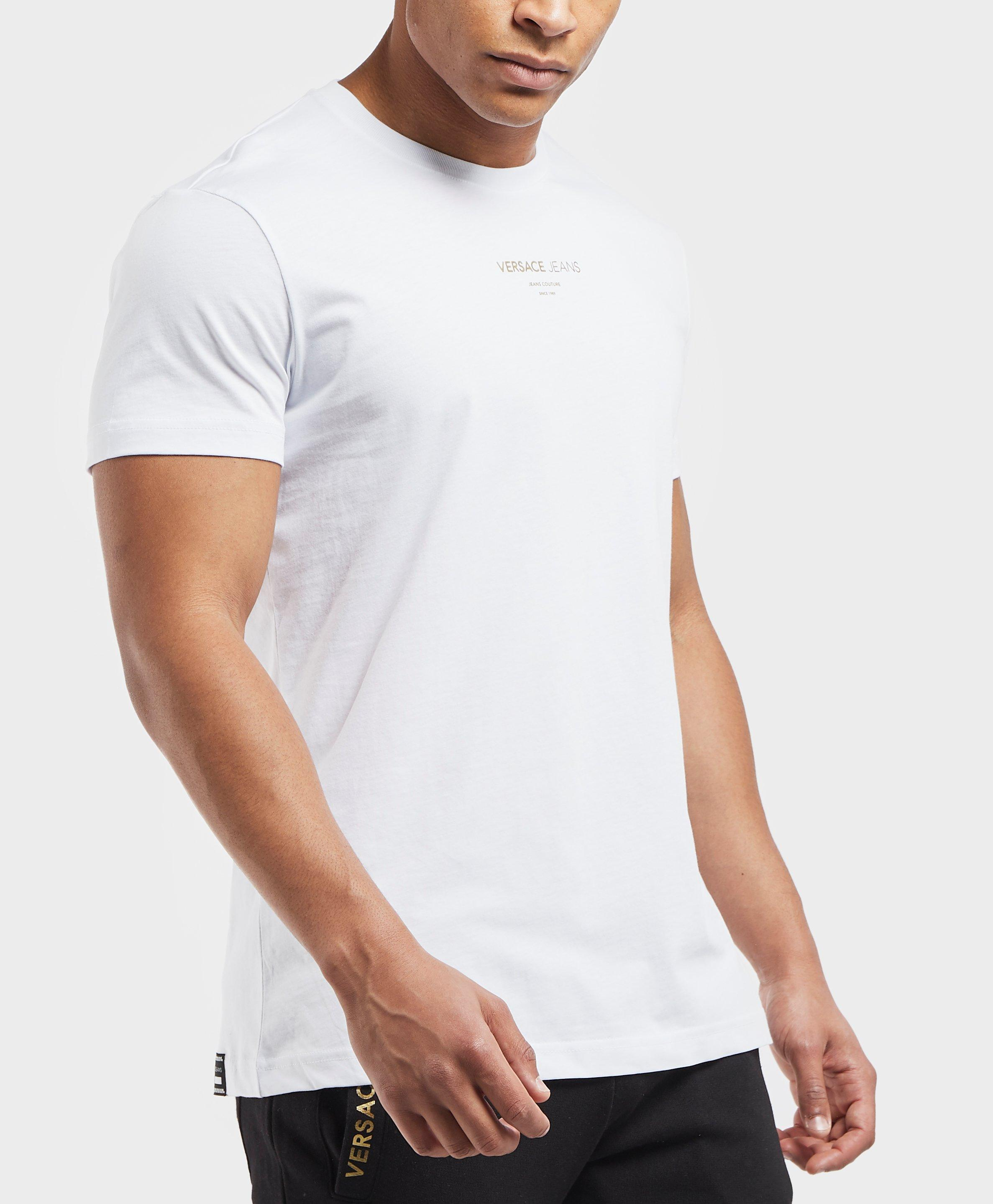 24a1f432 Versace Jeans - White Central Logo Short Sleeve T-shirt for Men - Lyst.  View fullscreen