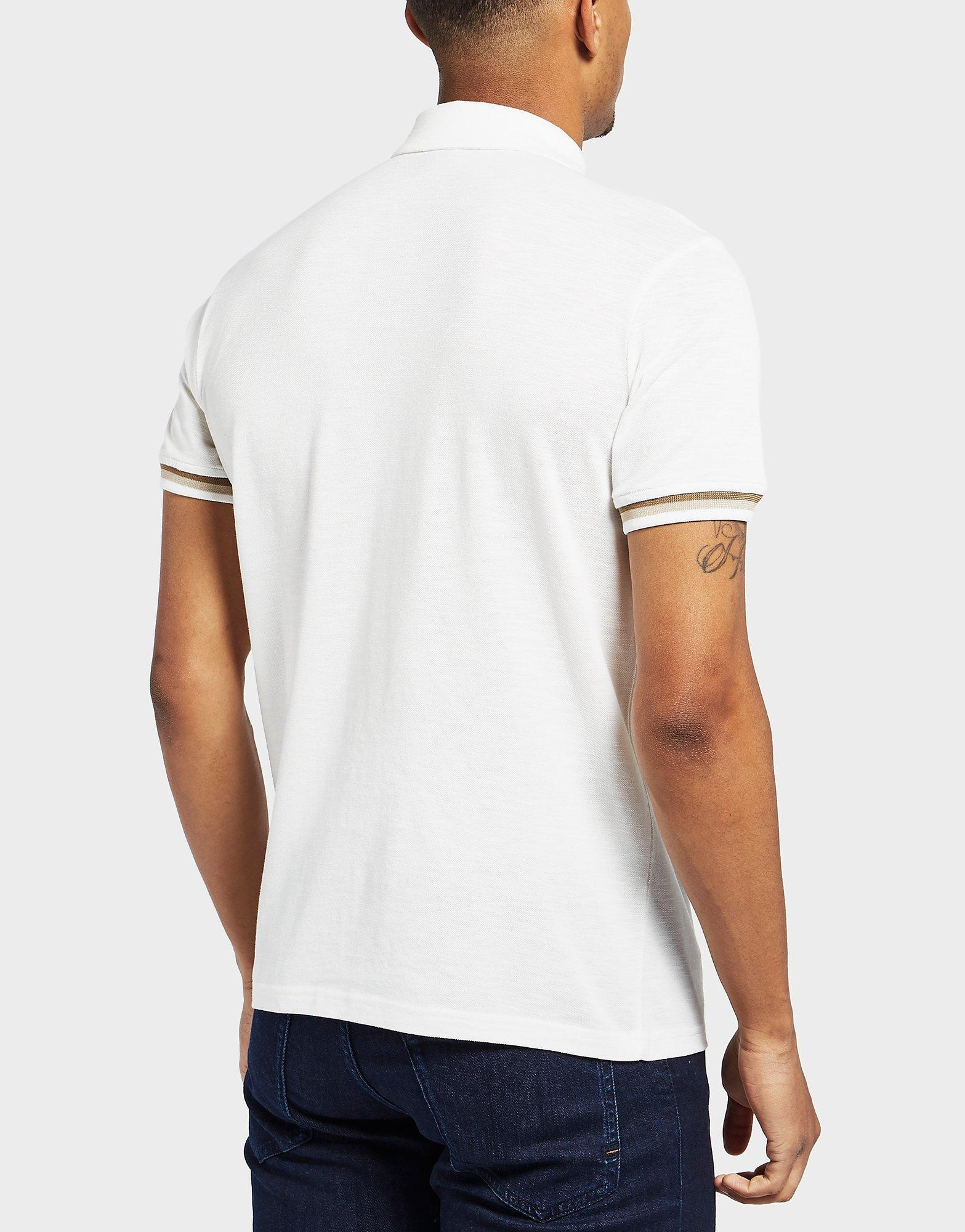 7a5ec5081 BOSS Paxto Short Sleeve Polo Shirt in White for Men - Lyst