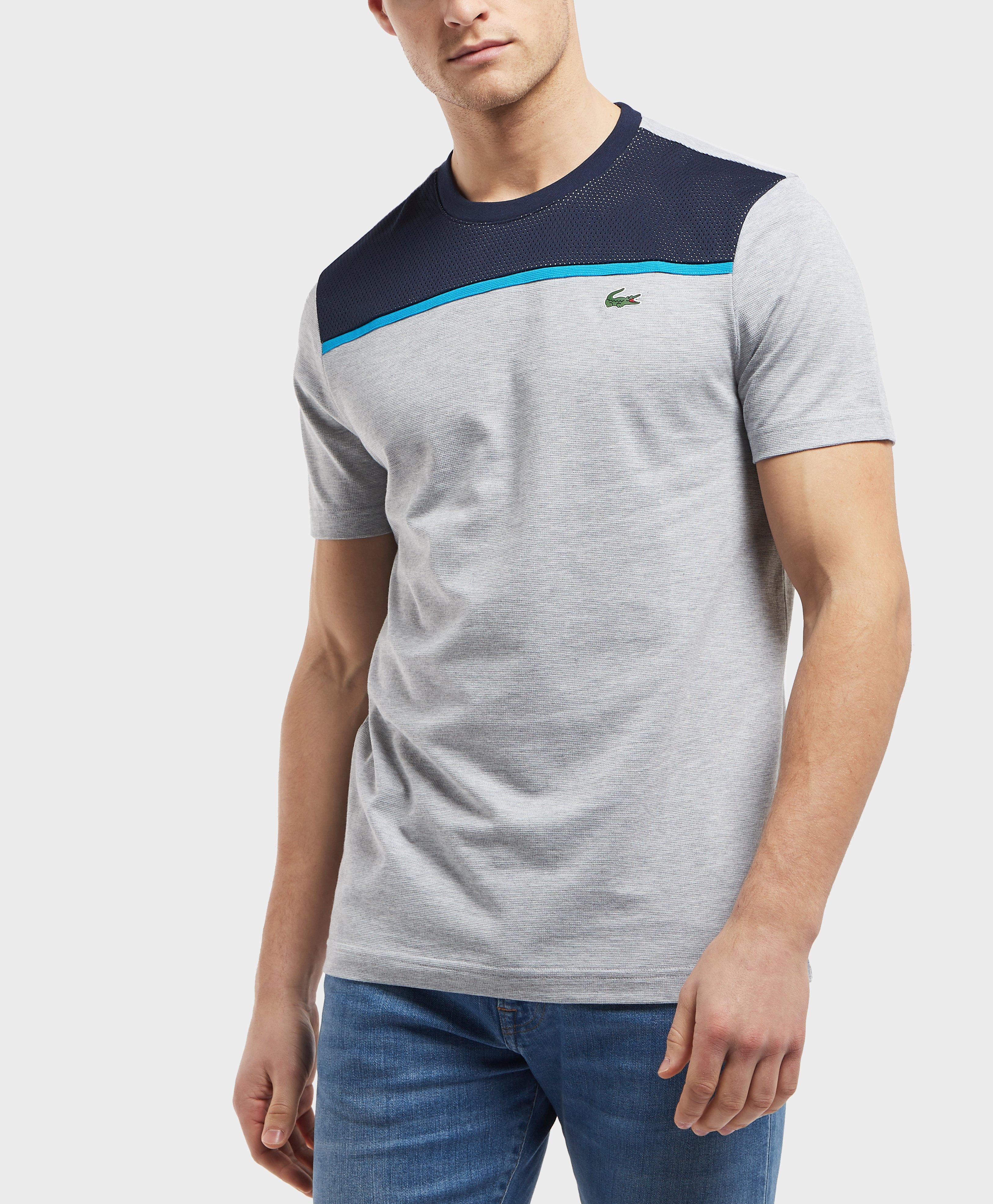 5199d99d3b7bc Lyst - Lacoste Short Sleeve Mesh Upper T-shirt for Men