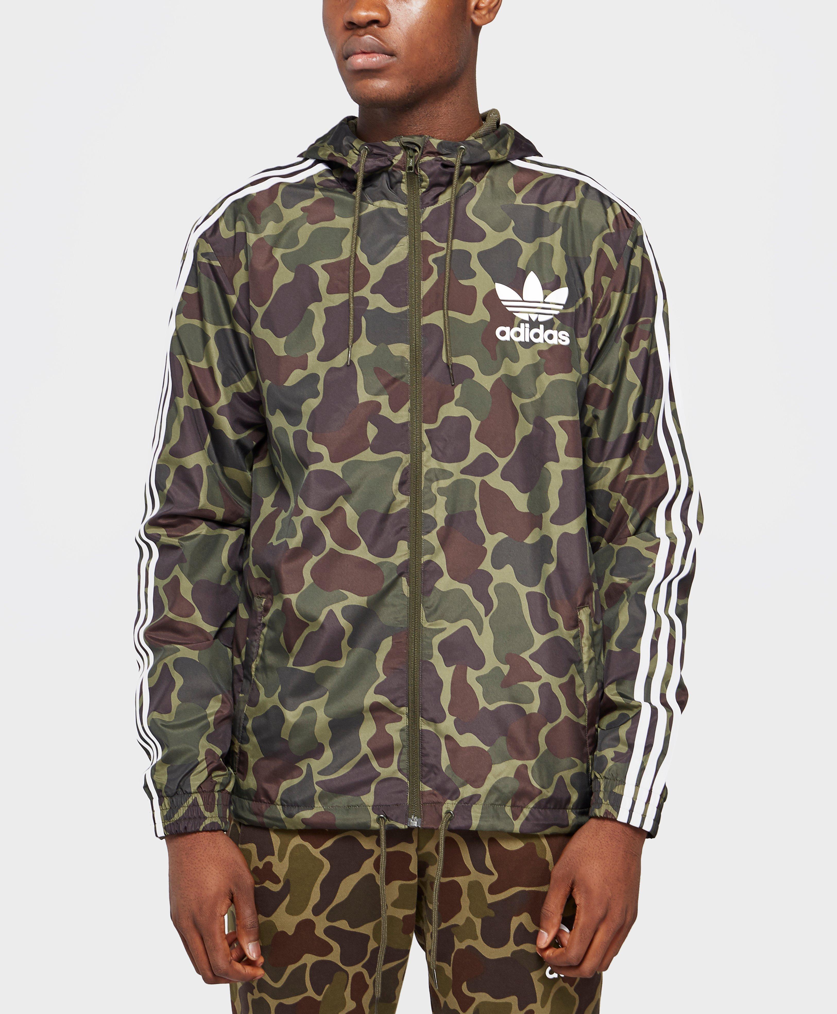 e2e8f20912842 adidas Originals Trefoil All Over Print Lightweight Jacket for Men ...
