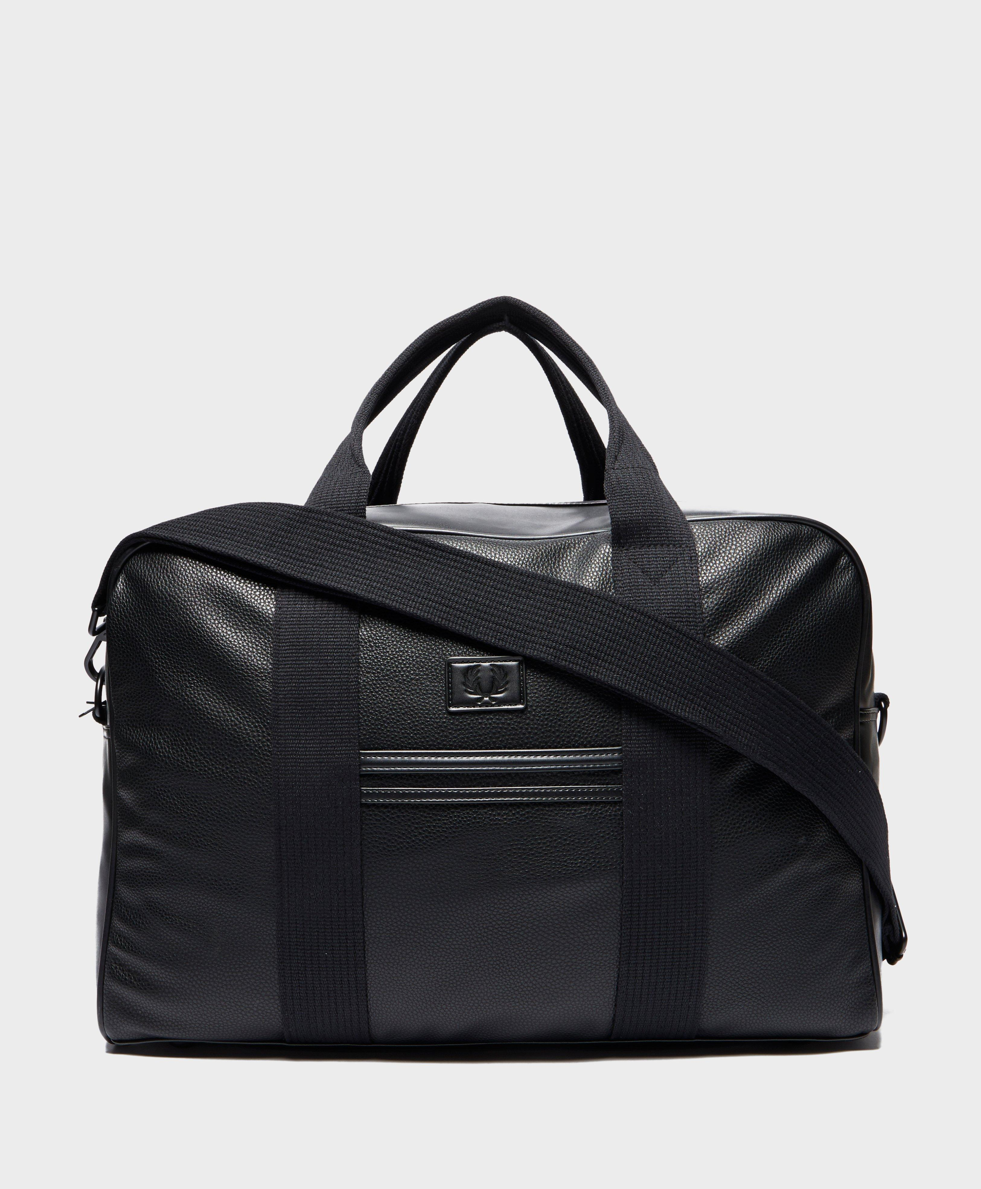 a29596c52428 Lyst - Fred Perry Tumbled Holdall - Online Exclusive in Black for Men