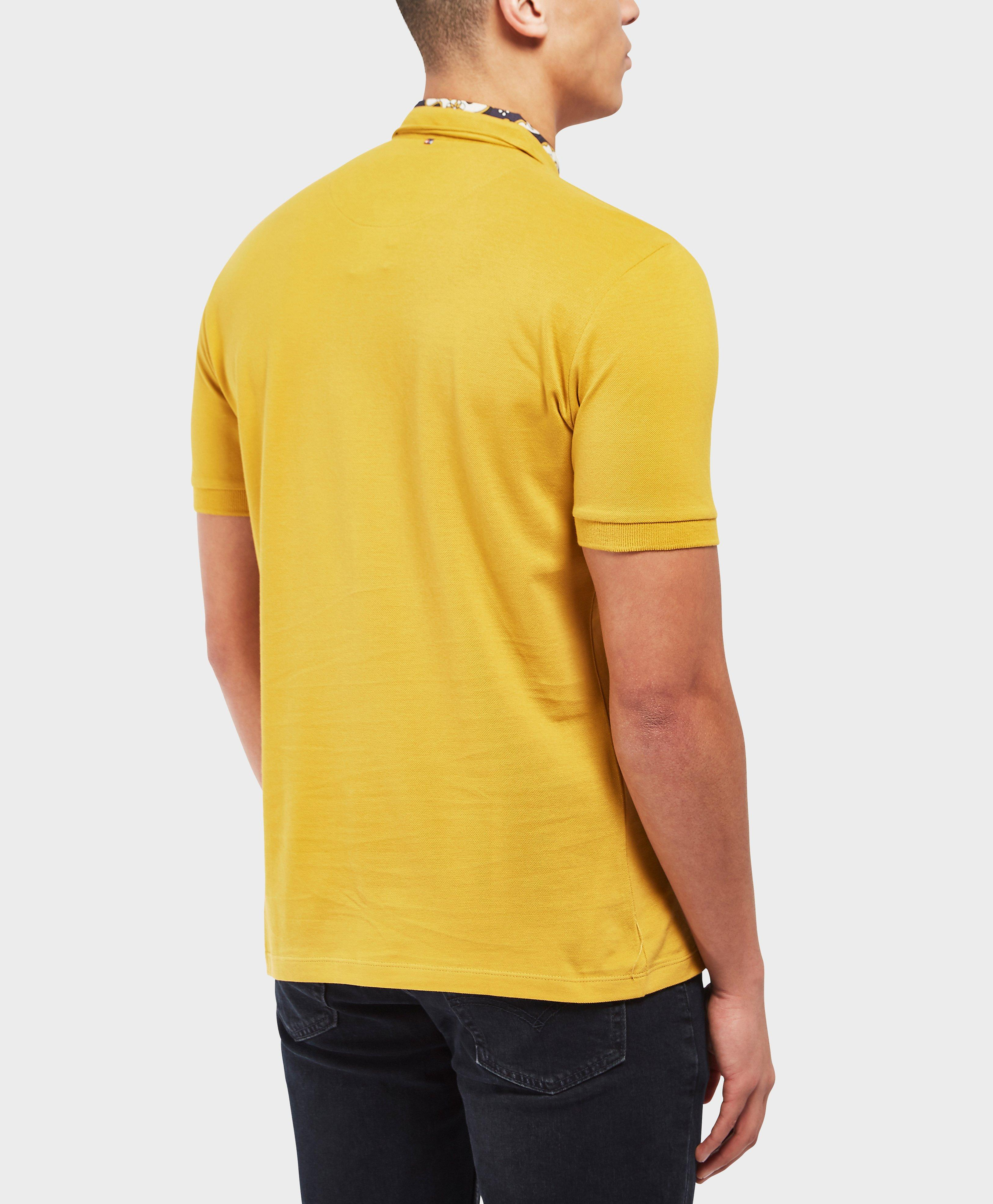 08b9a037 Pretty Green Beaufort Short Sleeve Polo Shirt - Exclusive in Yellow ...