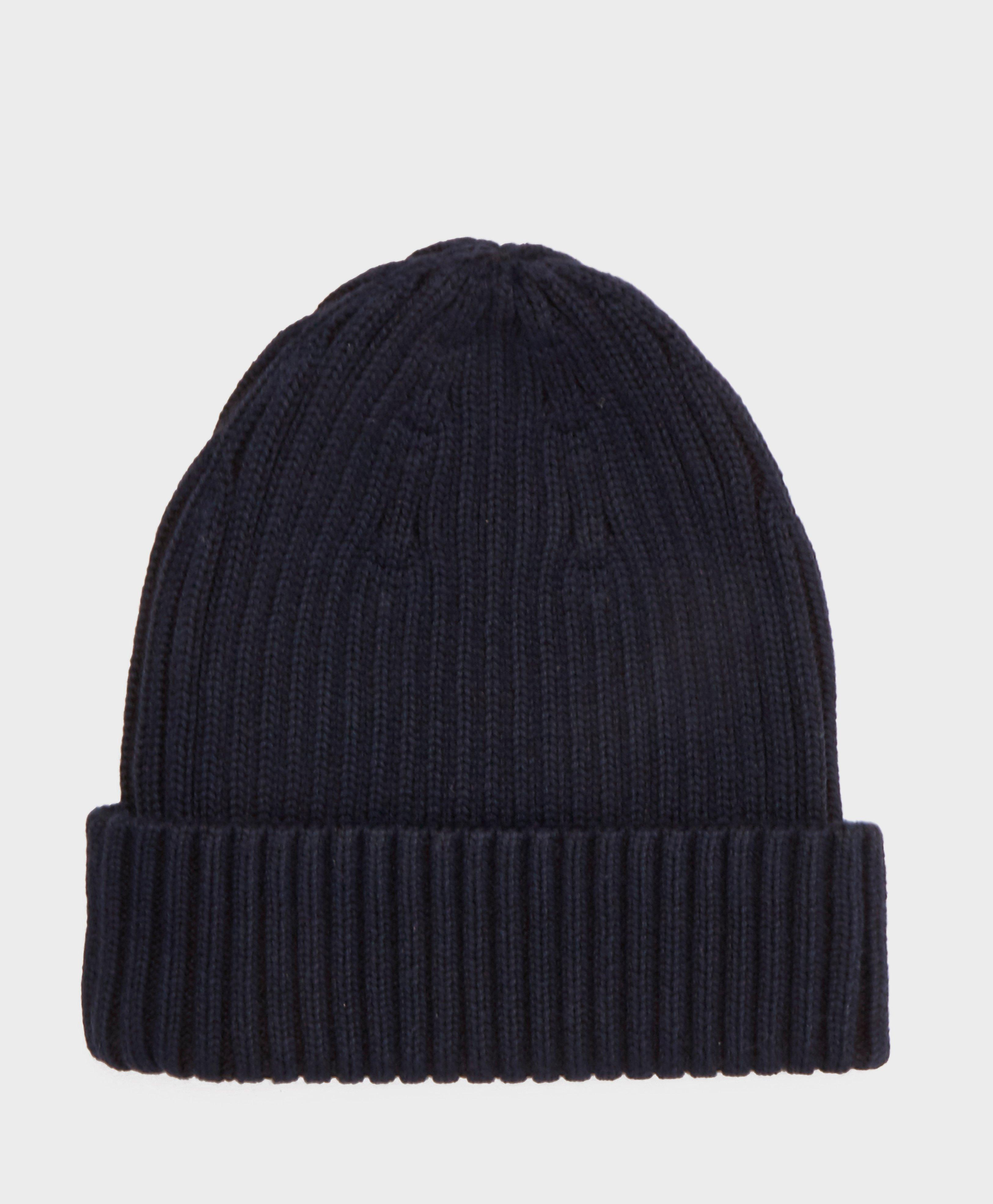 cc5180227 Fred Perry Two Tone Knitted Beanie in Blue for Men - Lyst