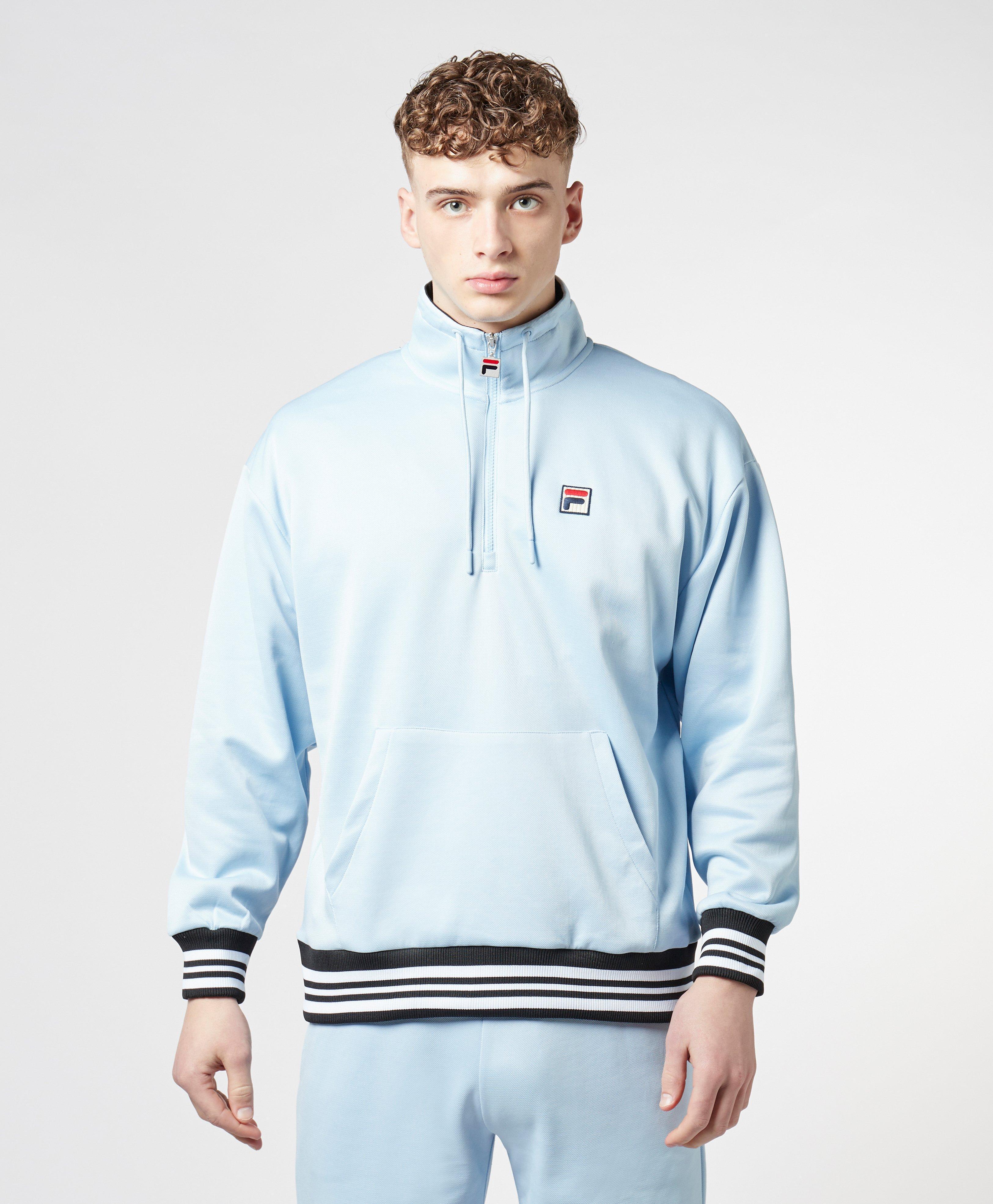 447fa42dba27 Lyst - Fila Tape Tip Half Zip Sweatshirt in Blue for Men