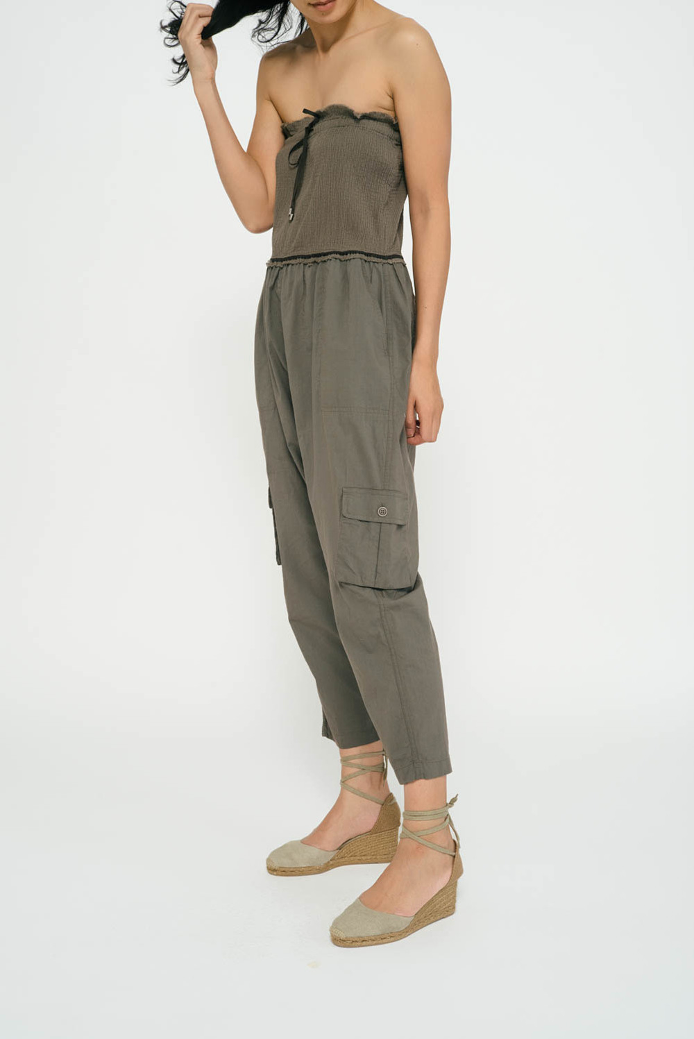 b369918be56 Lyst - Sea Strapless Jumpsuit in Green