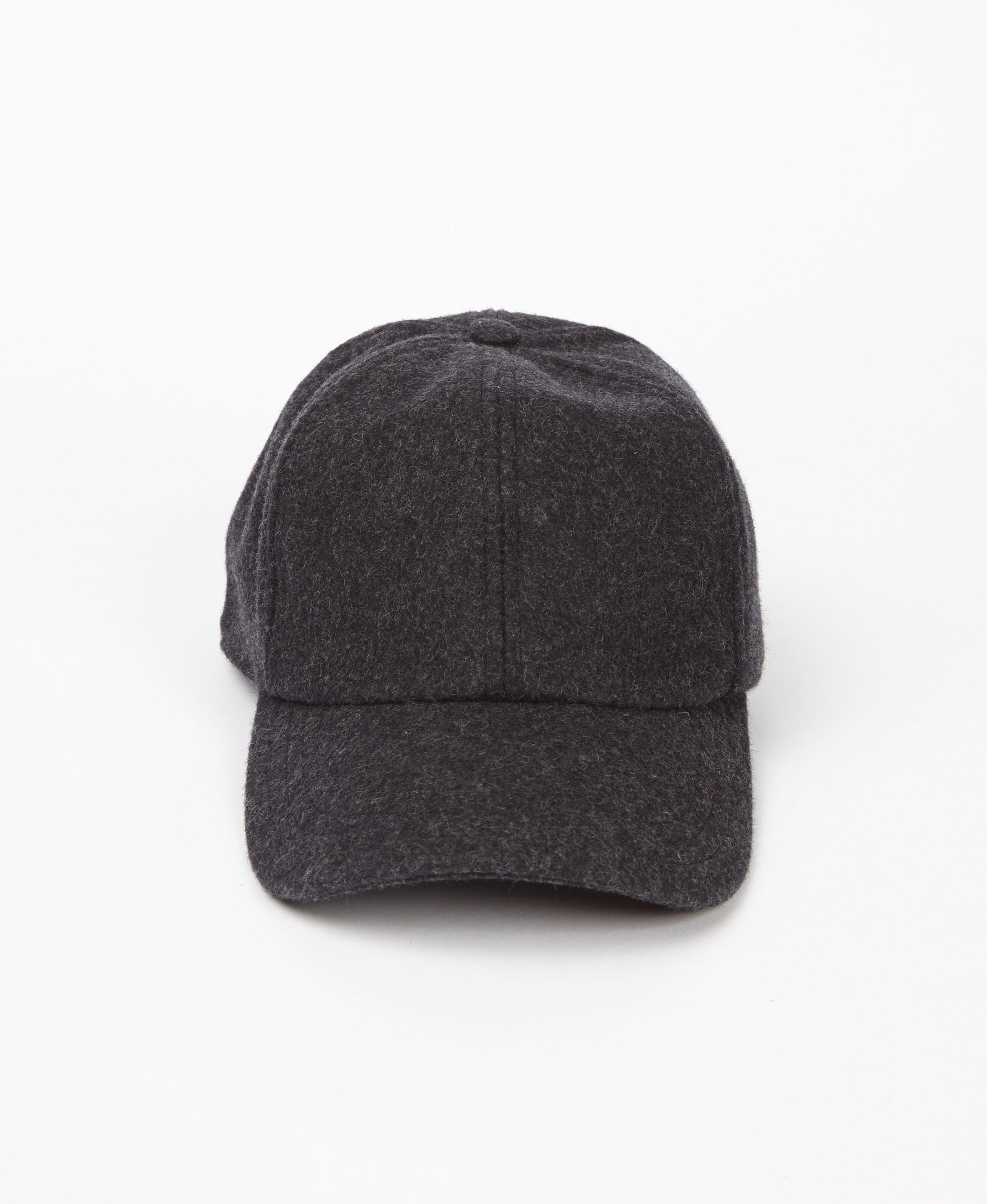 15ef563bc1d Lyst - Sefton Charcoal Wool Cap in Gray for Men