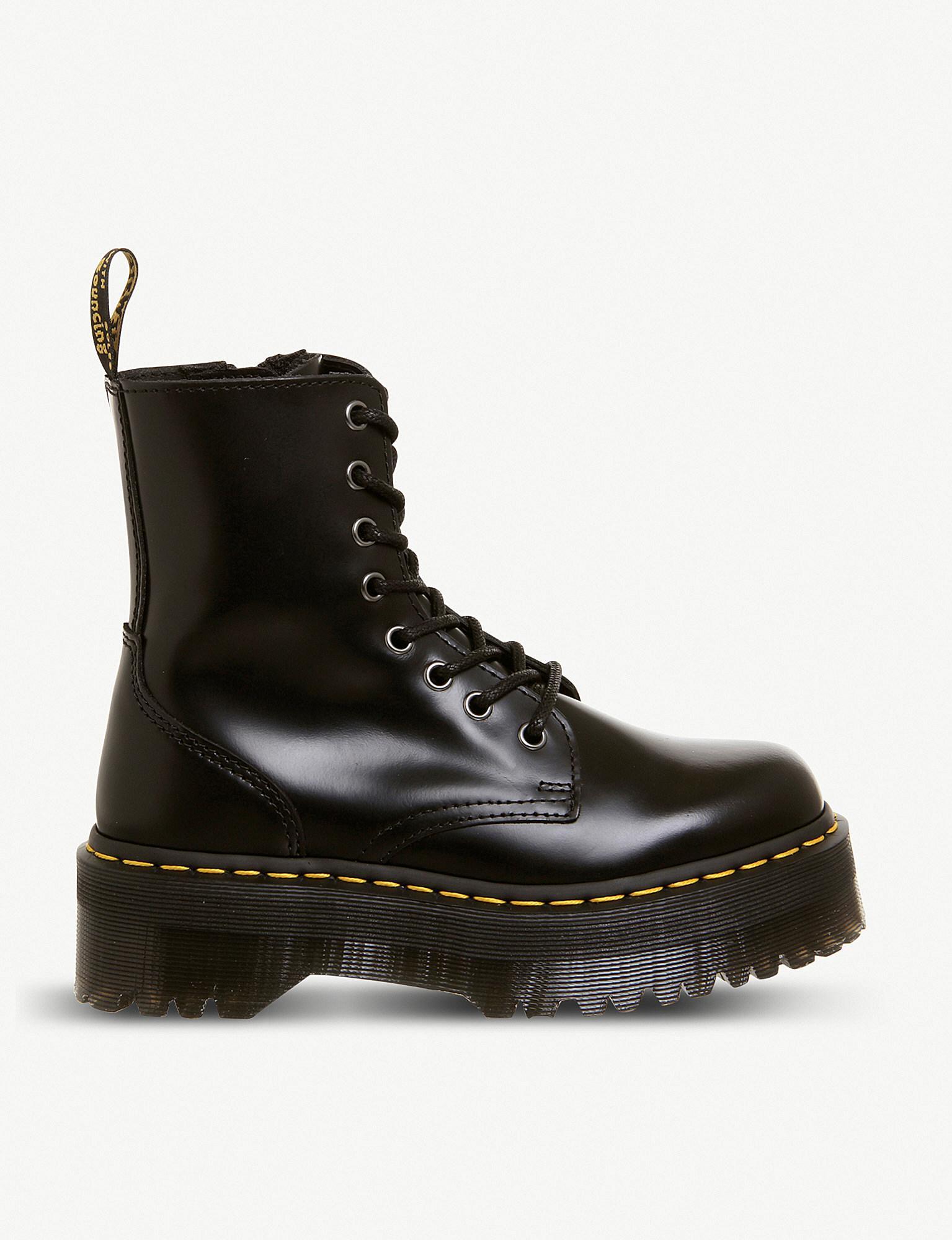 eedfb2c1cb55 Lyst - Dr. Martens Jadon 8-eye Leather Platform Boots in Black