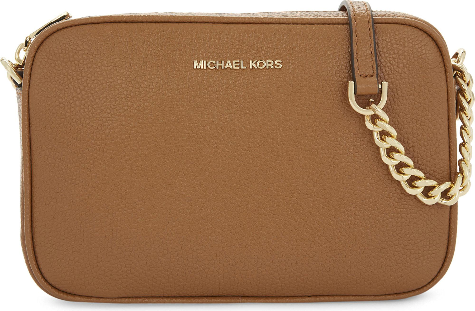 96fc768ad4c4 MICHAEL Michael Kors Ginny Medium Grained Leather Cross-body Bag in ...