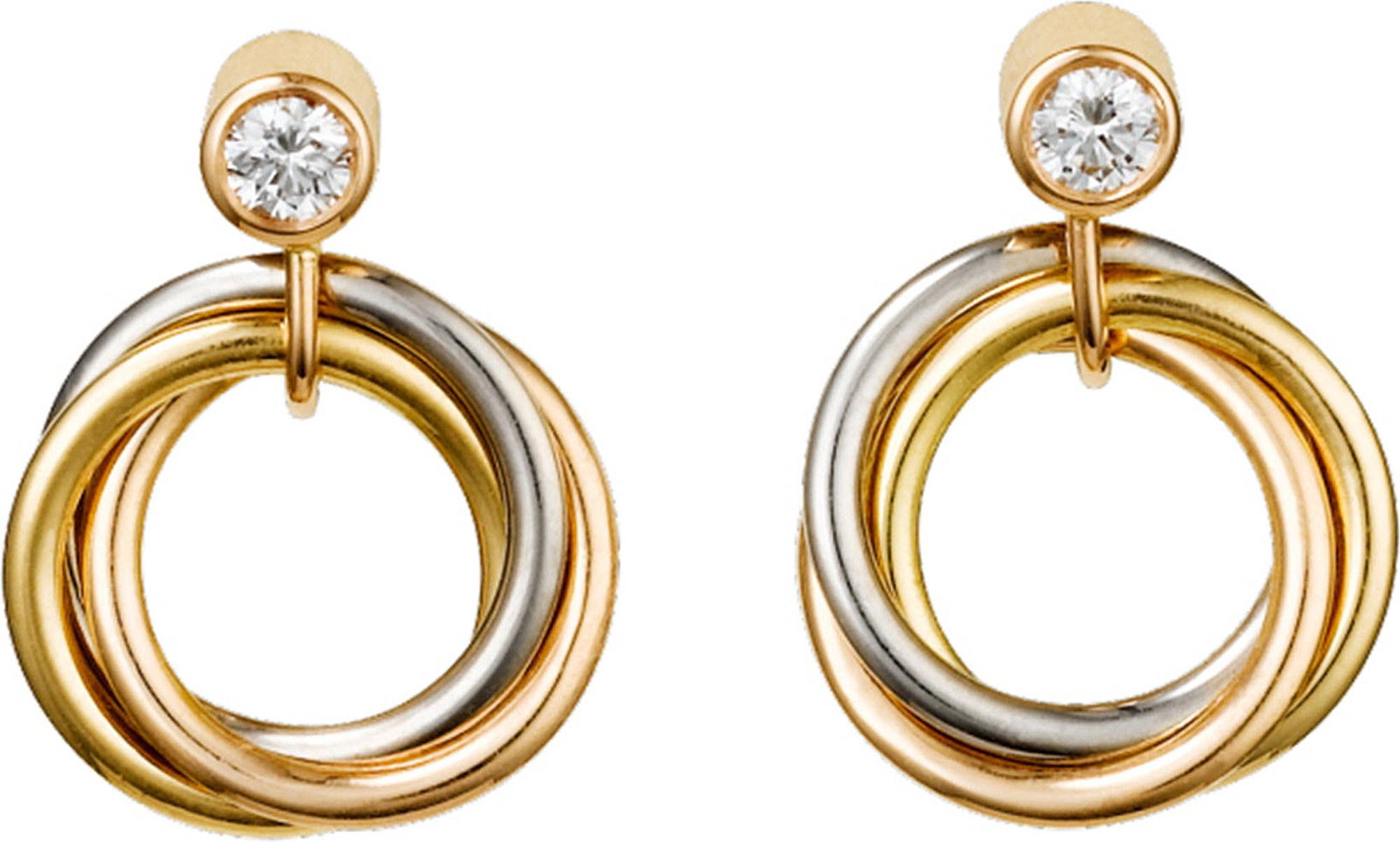 enlarged cartier trinity earrings jewelry realreal de earclip products the