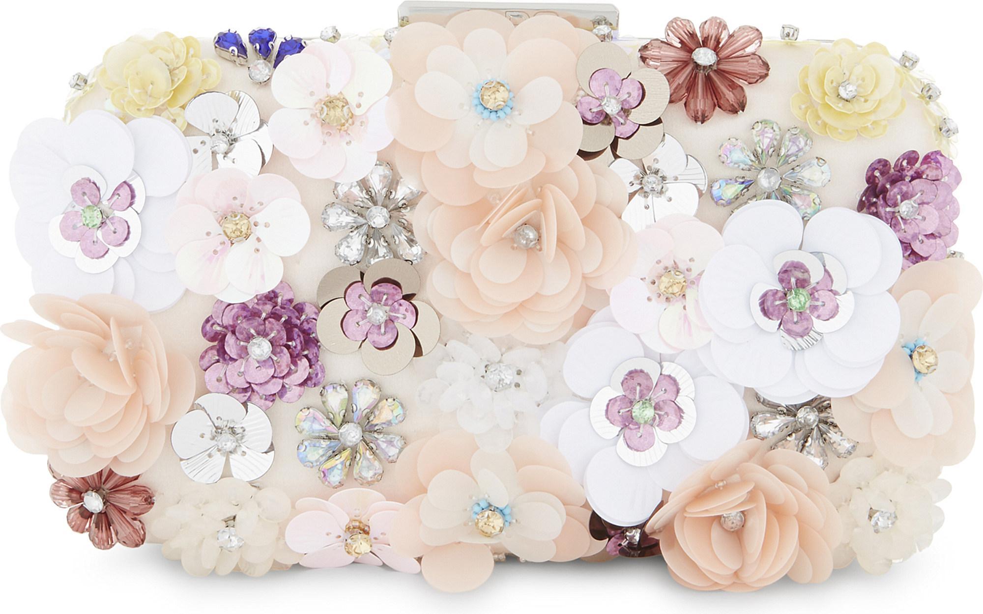 a614f506d35 Lyst - ALDO Daromara Floral Clutch in Pink
