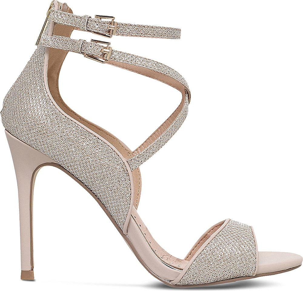 Miss Kg Womens Erin Two Part Heeled Sandals in Silver