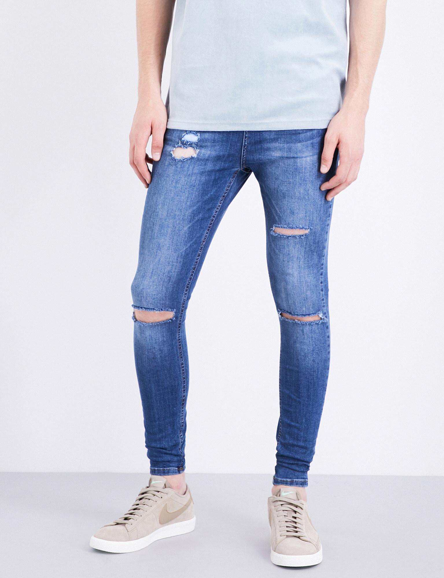 e78acf4bc09 HERA Spray-on Ultra Rip Slim-fit Skinny Jeans in Blue for Men - Lyst
