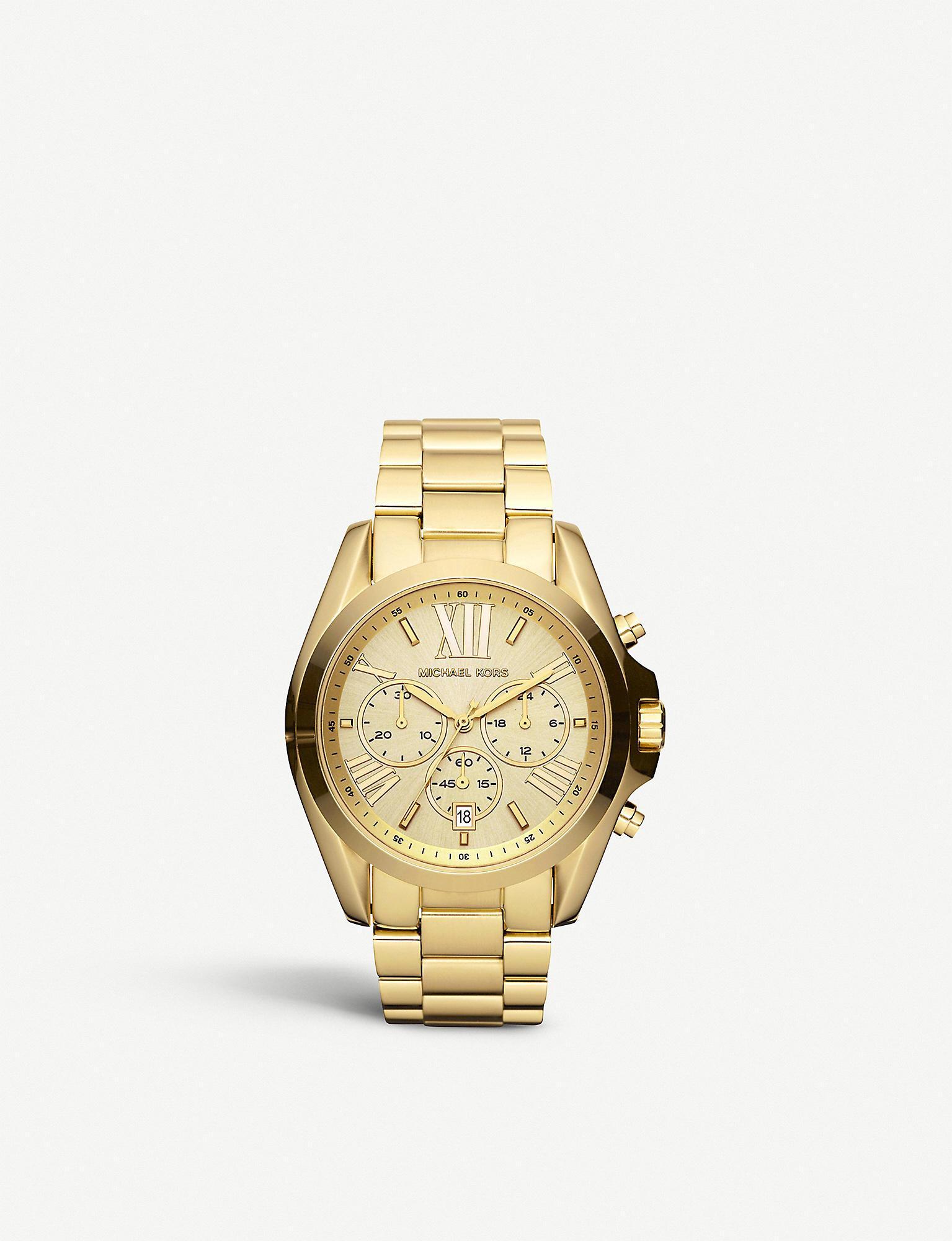 c88c13057d83 Michael Kors - Metallic Mk5605 Bradshaw Gold-plated Watch - Lyst. View  fullscreen