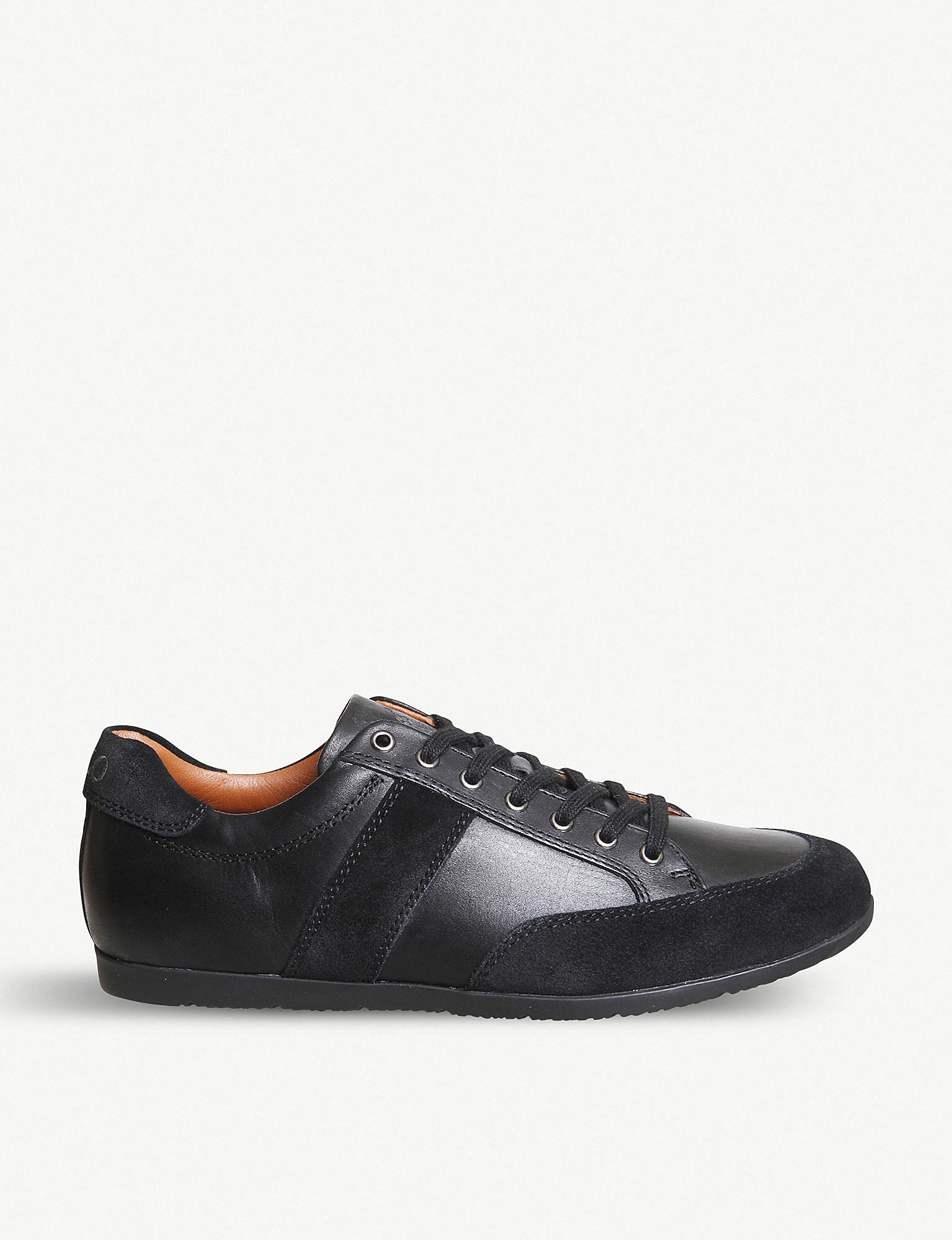 Polo Ralph Lauren Price Leather And Suede Trainers in Black for Men ... 4c85a32622c