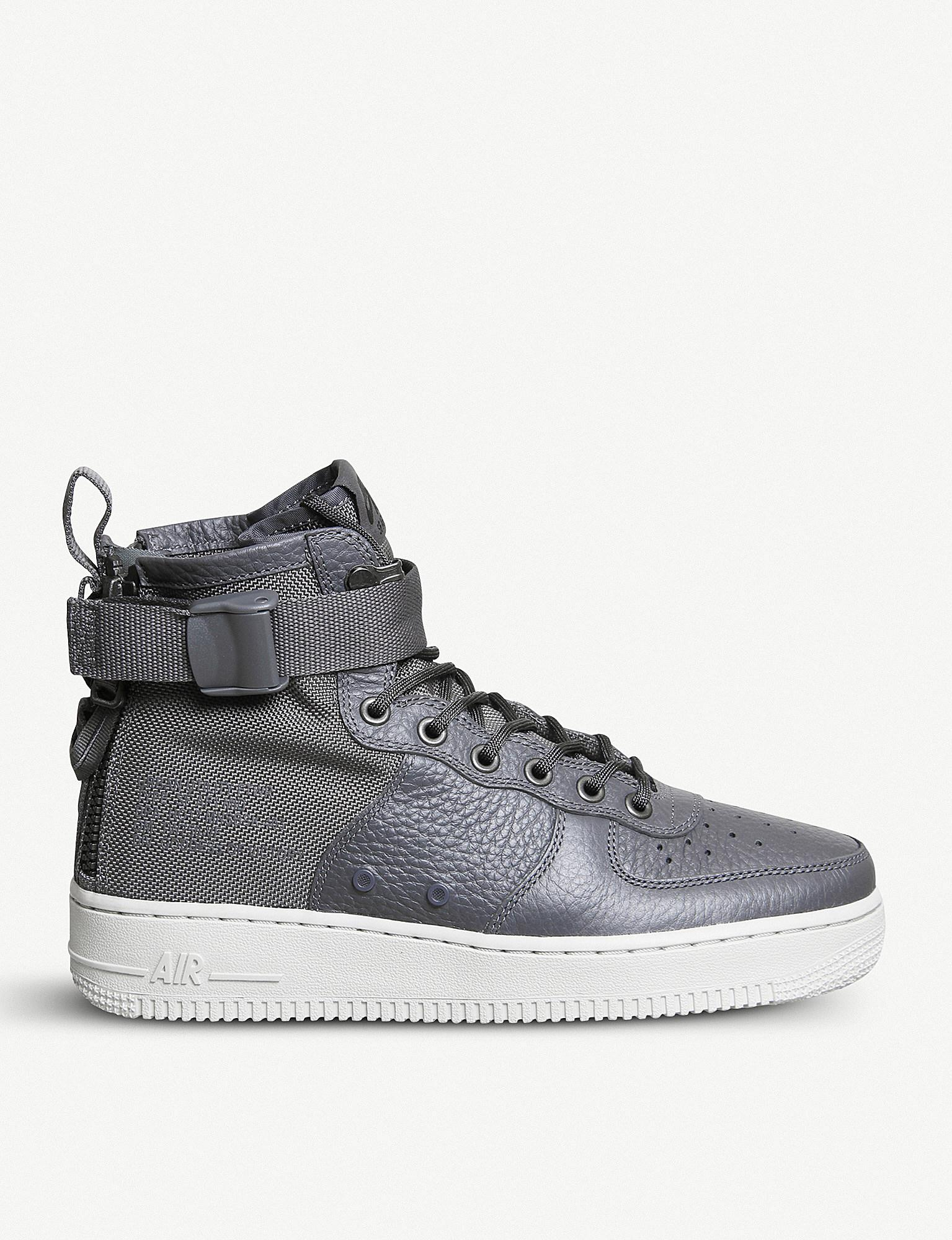 9b8ff2e0a6bae ... netherlands lyst nike sf af 1 17 leathe and mesh mid top trainers in  gray for