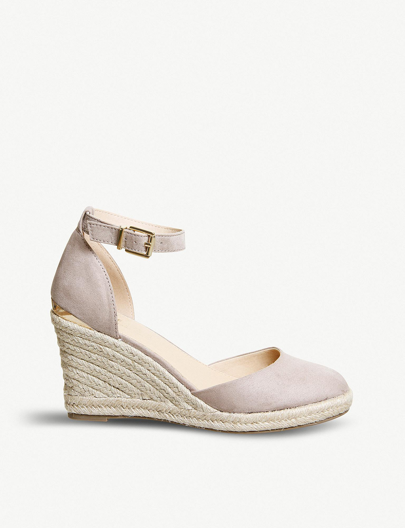 db3c06f272a2 Office Marsha Suedette Espadrille Wedges in Metallic - Lyst