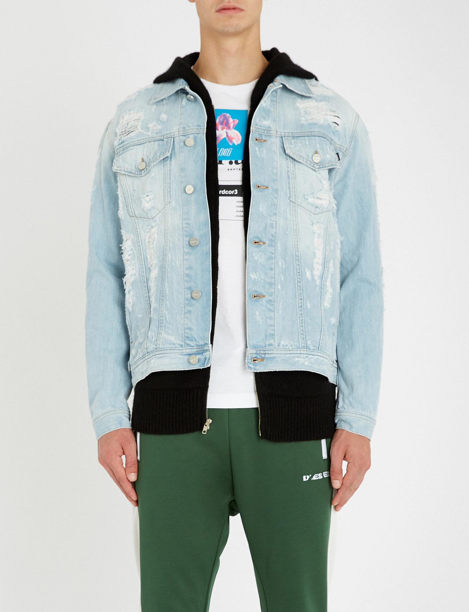 dbc26ad5d6f74 DIESEL D-hill Distressed Denim Jacket in Blue for Men - Lyst