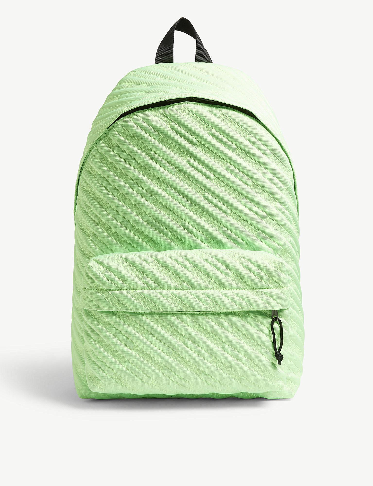 28cd36d1c803 Lyst - Balenciaga Explorer Logo Embroidered Nylon Backpack in Green ...