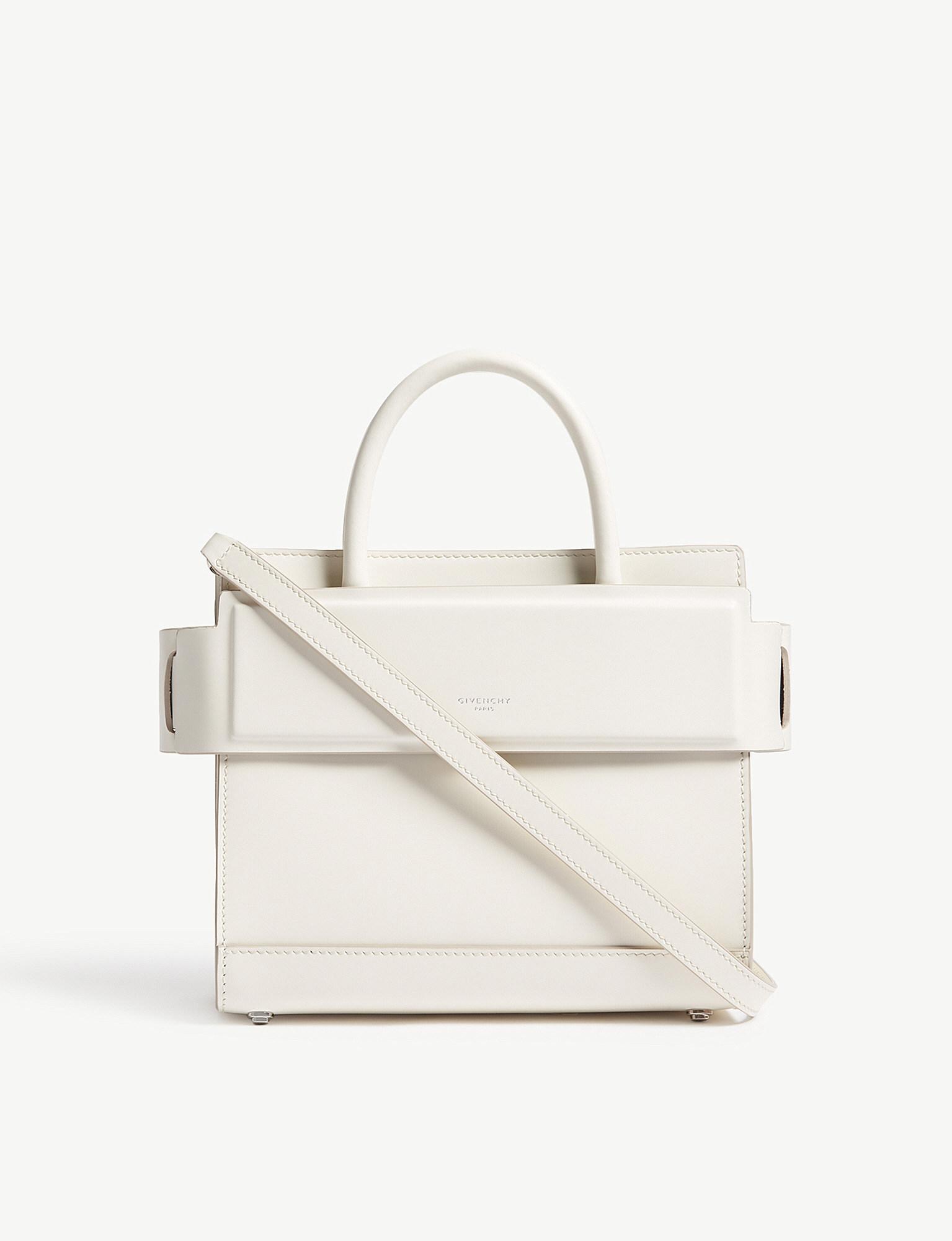 8b48a96c921e Lyst - Givenchy Horizon Mini Leather Cross-body Bag in White