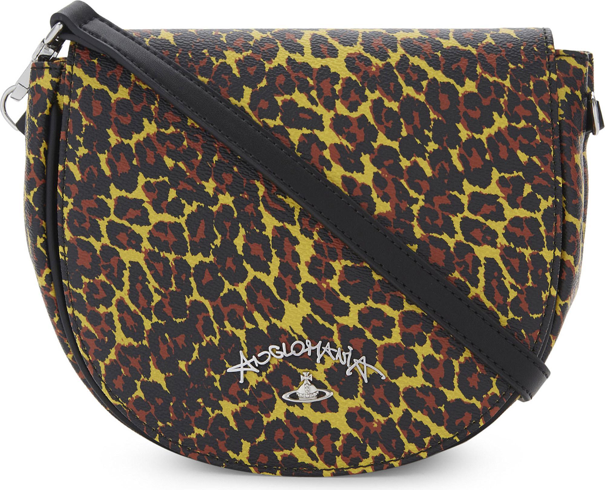 d8cfae6a8bfa Vivienne Westwood Anglomania Leopard-print Leather Shoulder Bag in ...