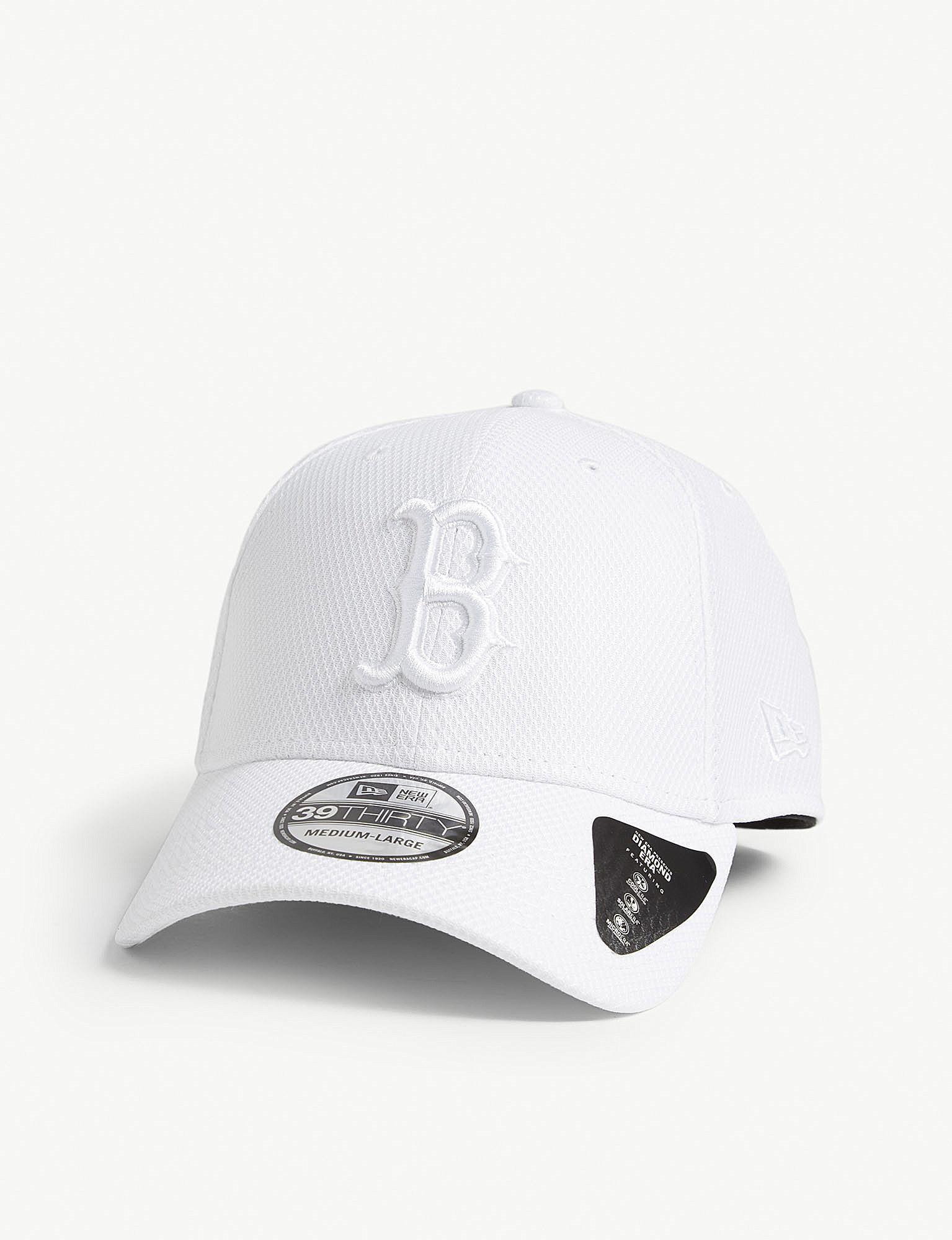 big sale 3bdfa b608b KTZ. Men s White Boston Red Sox 39thirty Baseball Cap