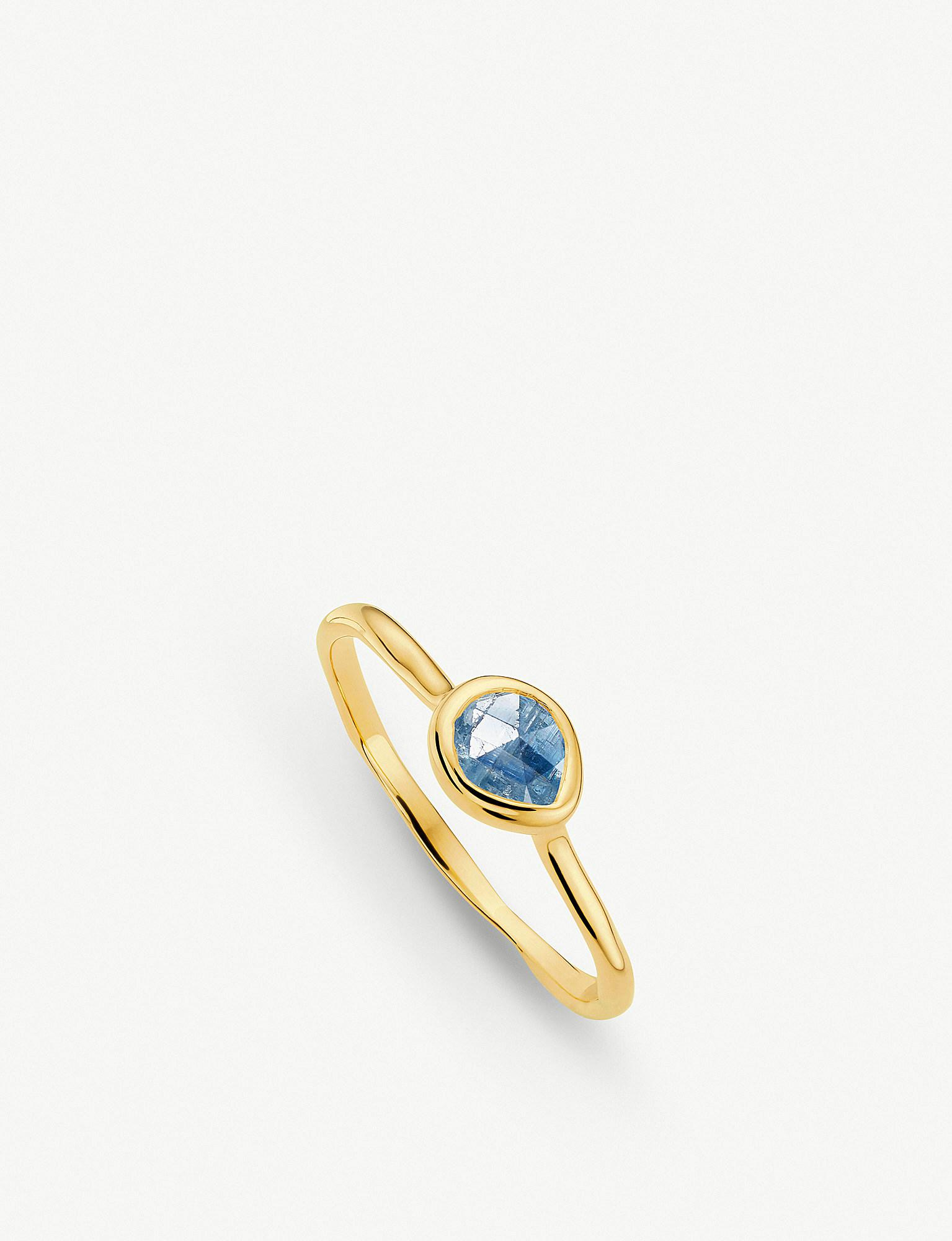 Sterling Silver Siren Small Stacking Ring Kyanite Monica Vinader z2KHoeE