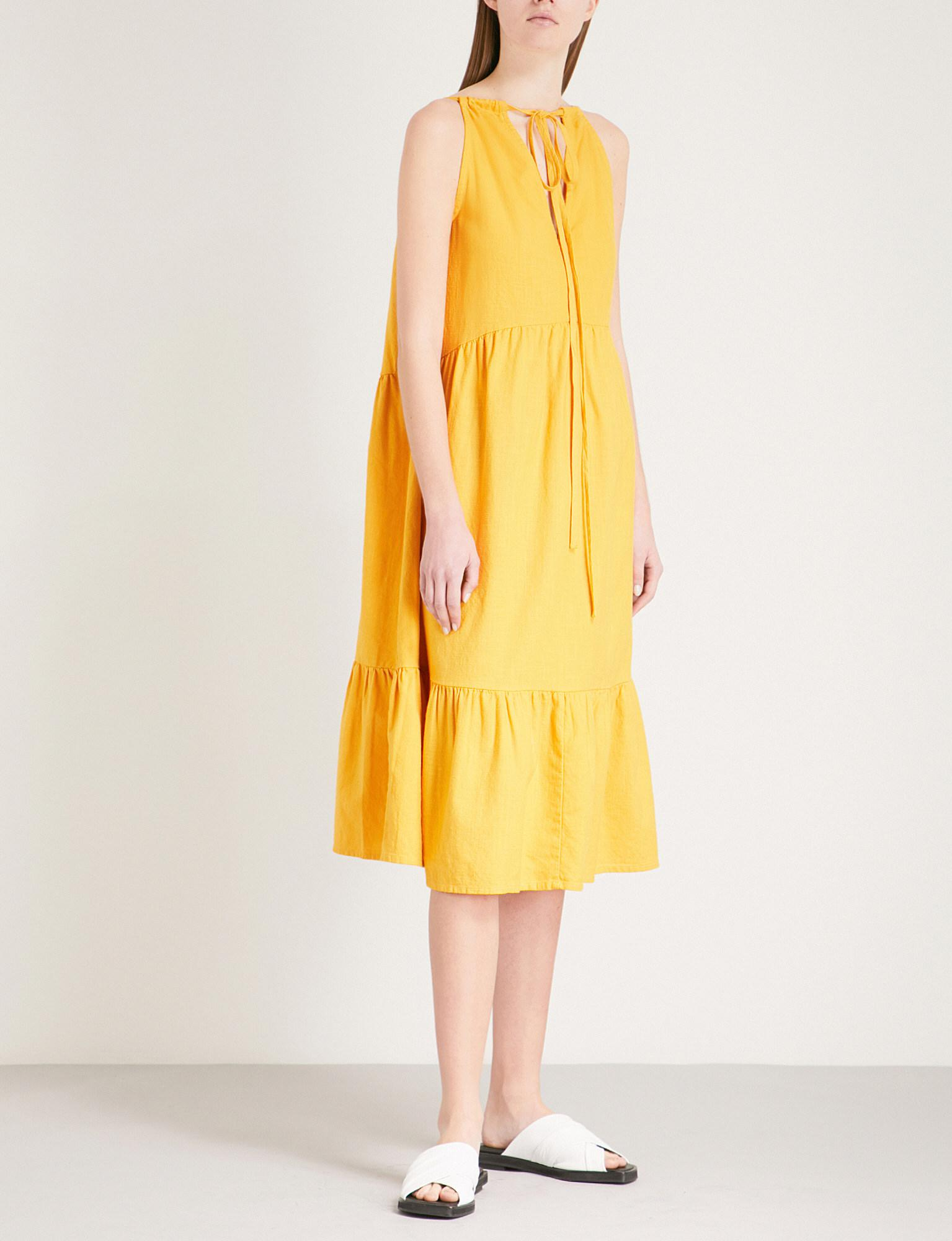 Lita Cotton-voile Midi Dress - Saffron Mih Jeans s7zMJPWrM